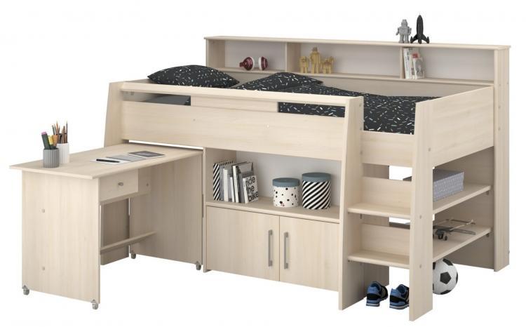 Stockbett mit Schreibtisch Charly2