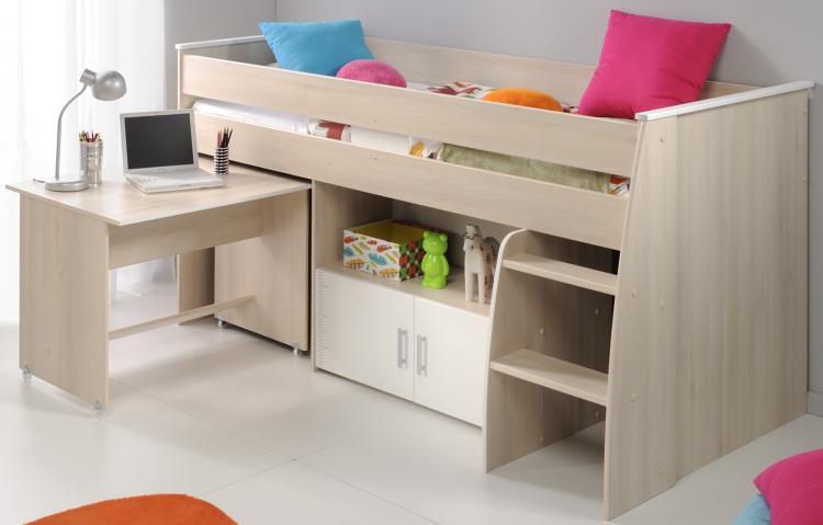 Stockbett mit Schreibtisch Charly4