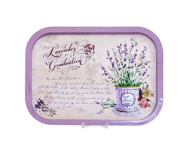 Tablett Lavendel Metall  von H. Denk GmbH Lila