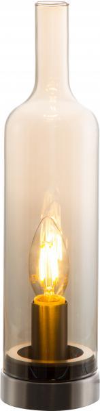 Tischleuchte BOTTLE von Nino Nickel matt / Glas amber