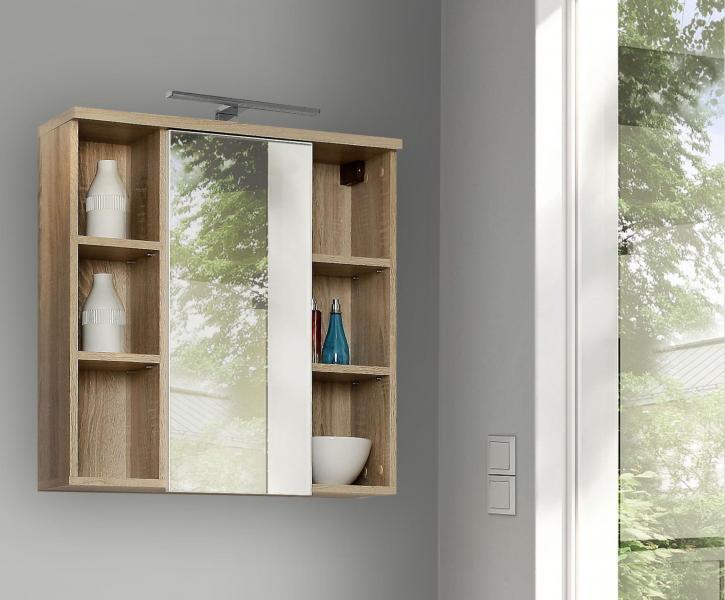 Veris Badezimmer Hängeschrank inkl LED u Spiegel