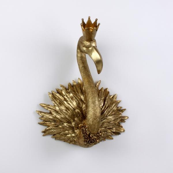 Wandobjekt ROYAL FLAMINGO Gold von Werner Voss