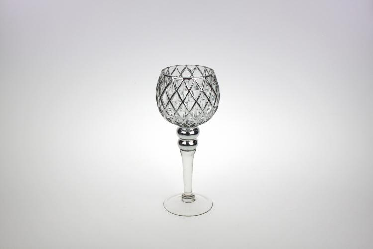 Windlicht Diamond 30 cm Silber von Werner Voss