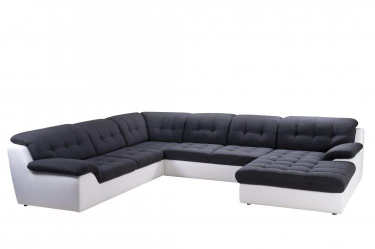 wohnlandschaft concorde von nova via weiss dunkelgrau. Black Bedroom Furniture Sets. Home Design Ideas