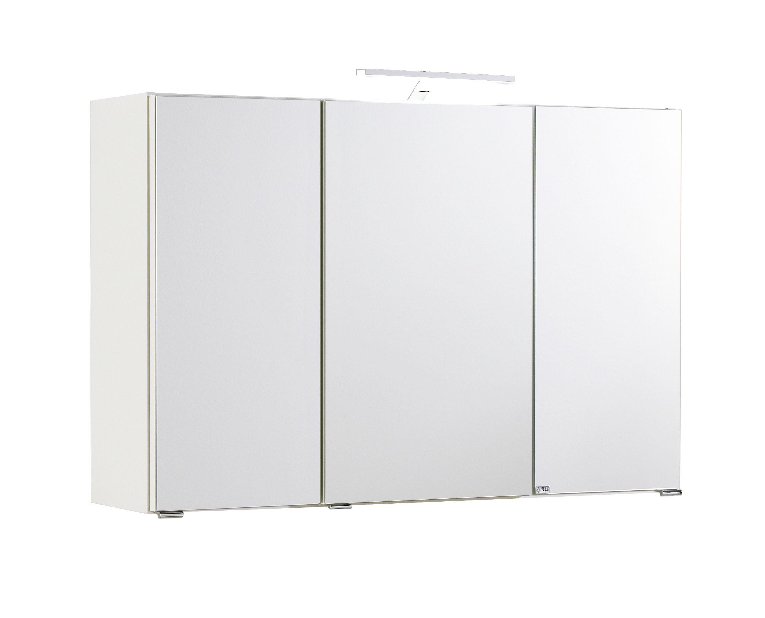 3d spiegelschrank 100 inkl led beleuchtung capri von held. Black Bedroom Furniture Sets. Home Design Ideas
