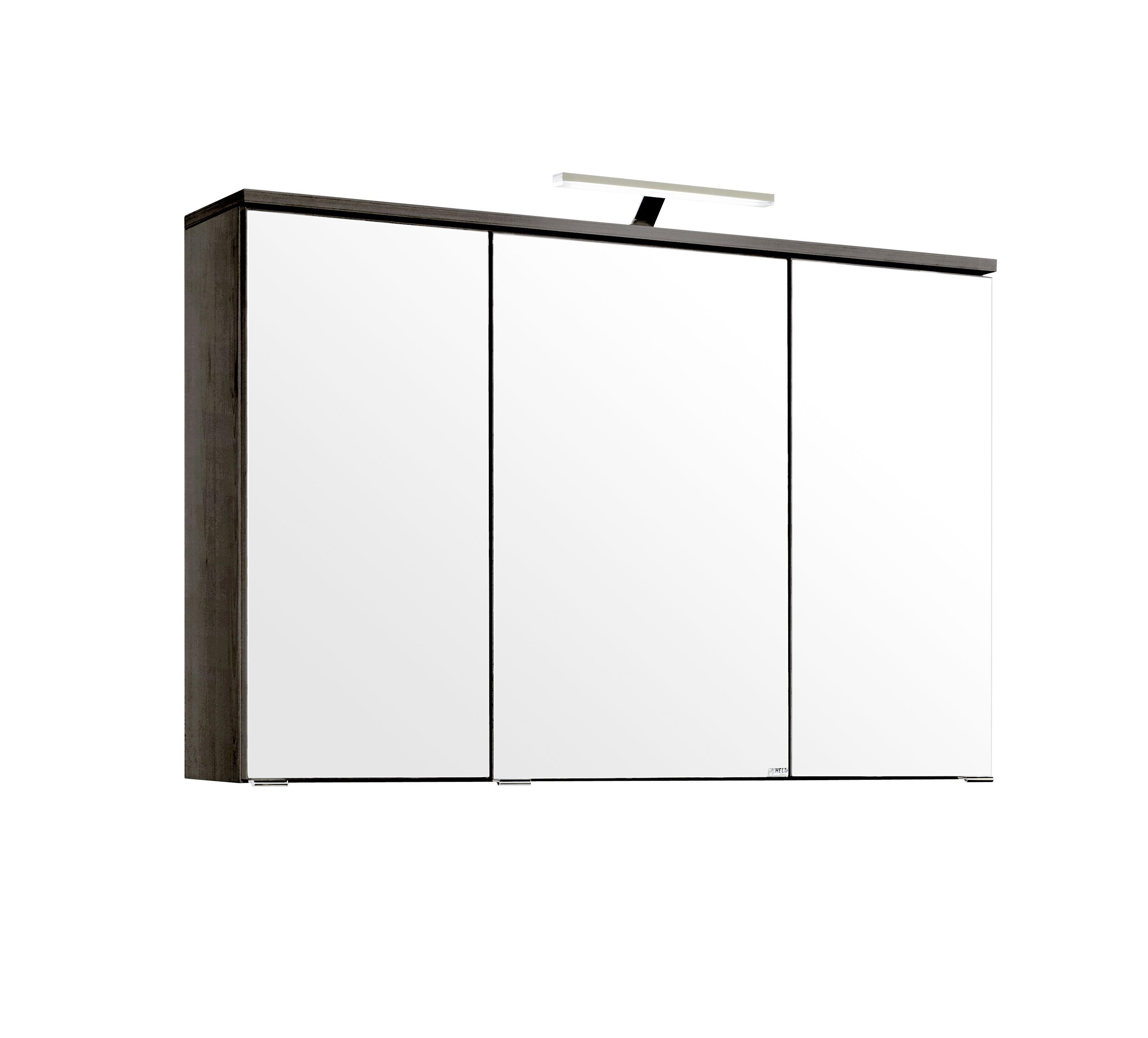3d spiegelschrank 100 inkl led aufbauleuchte mailand von for 3d spiegelschrank