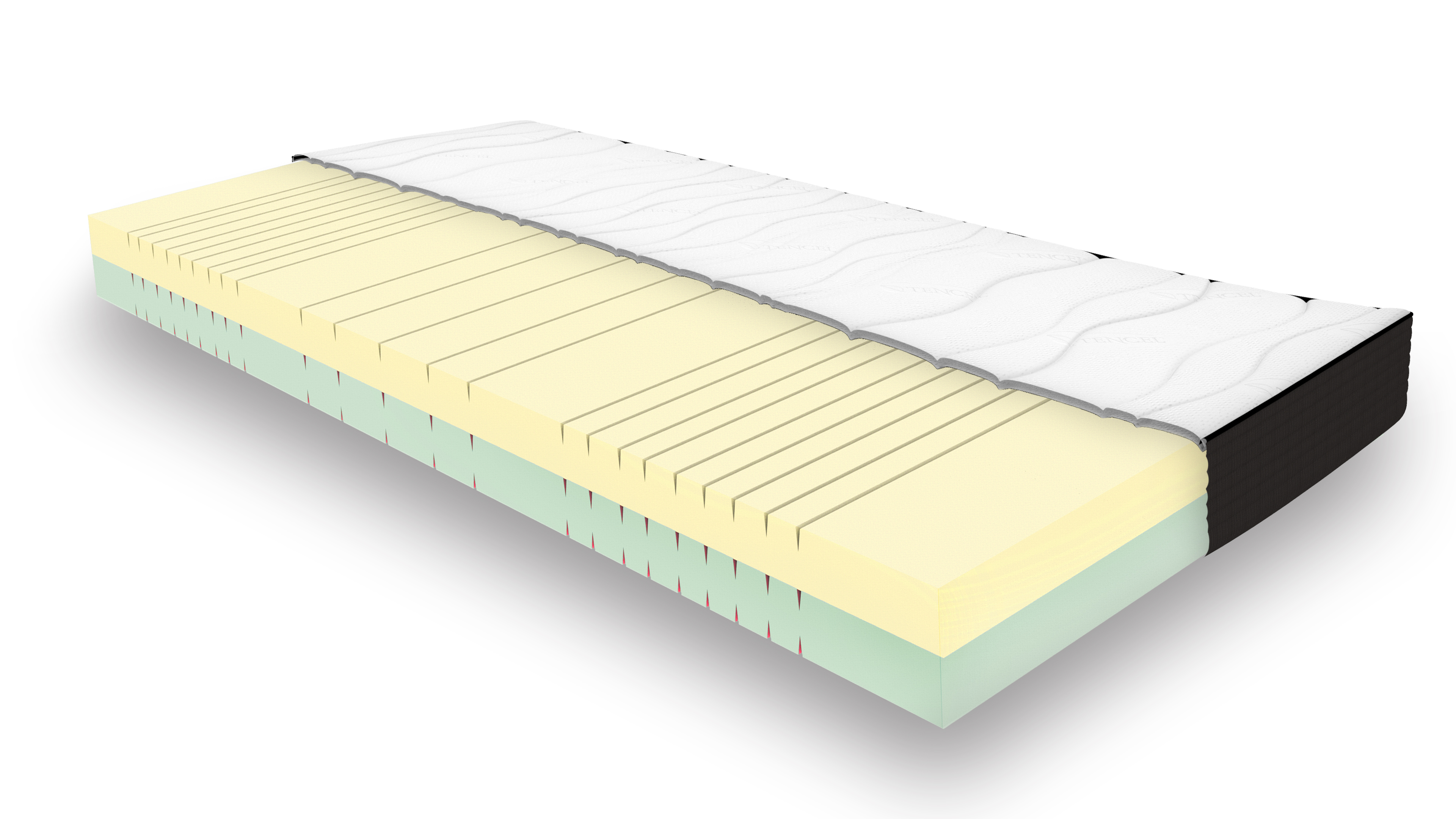 90x200 7-Zonen QPS - one fits all Matratze RASTI weich/fest inkl. Wendekern