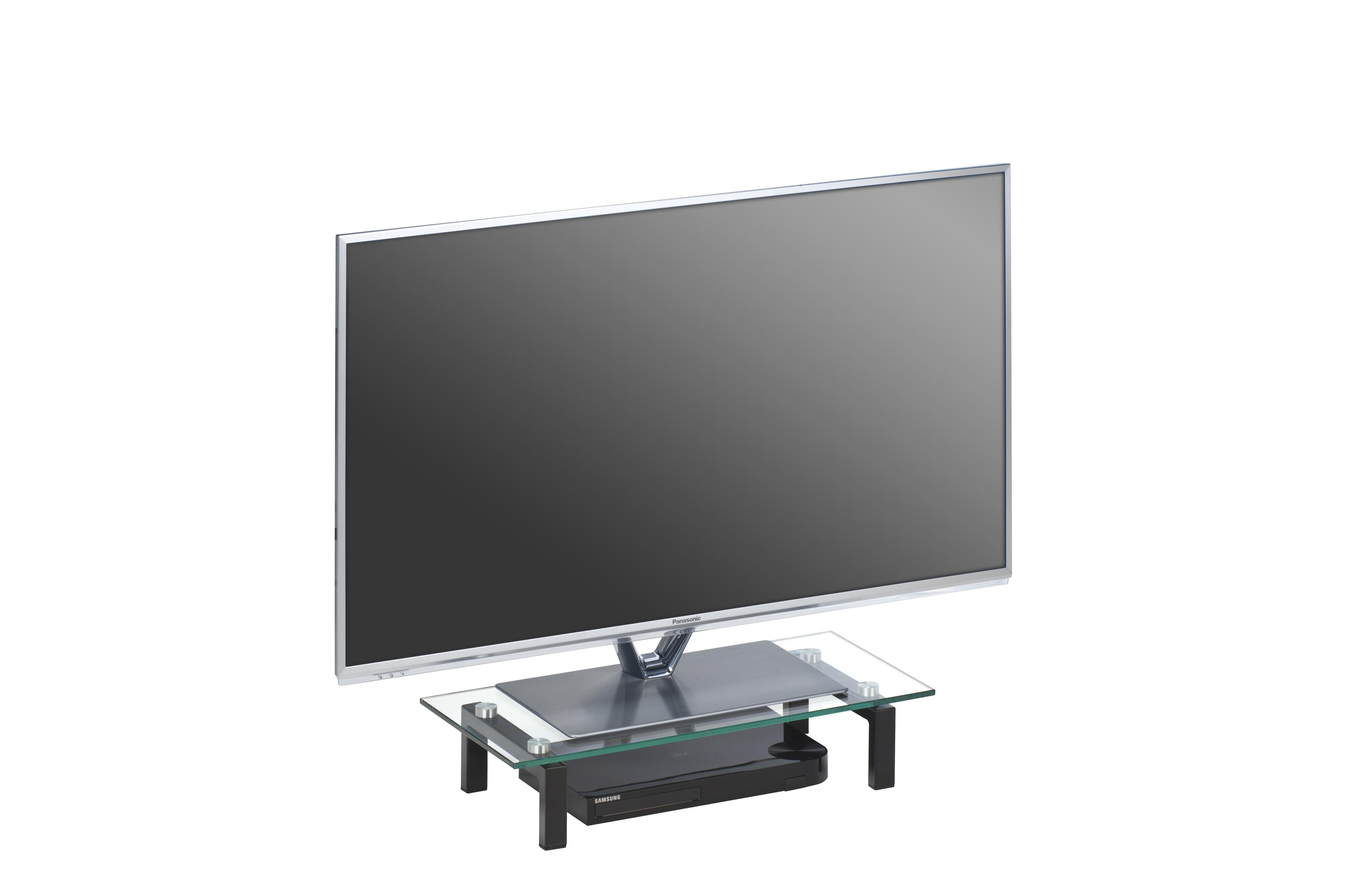 tv glasaufsatz podest ca 60 cm breit media 1602 von maja. Black Bedroom Furniture Sets. Home Design Ideas