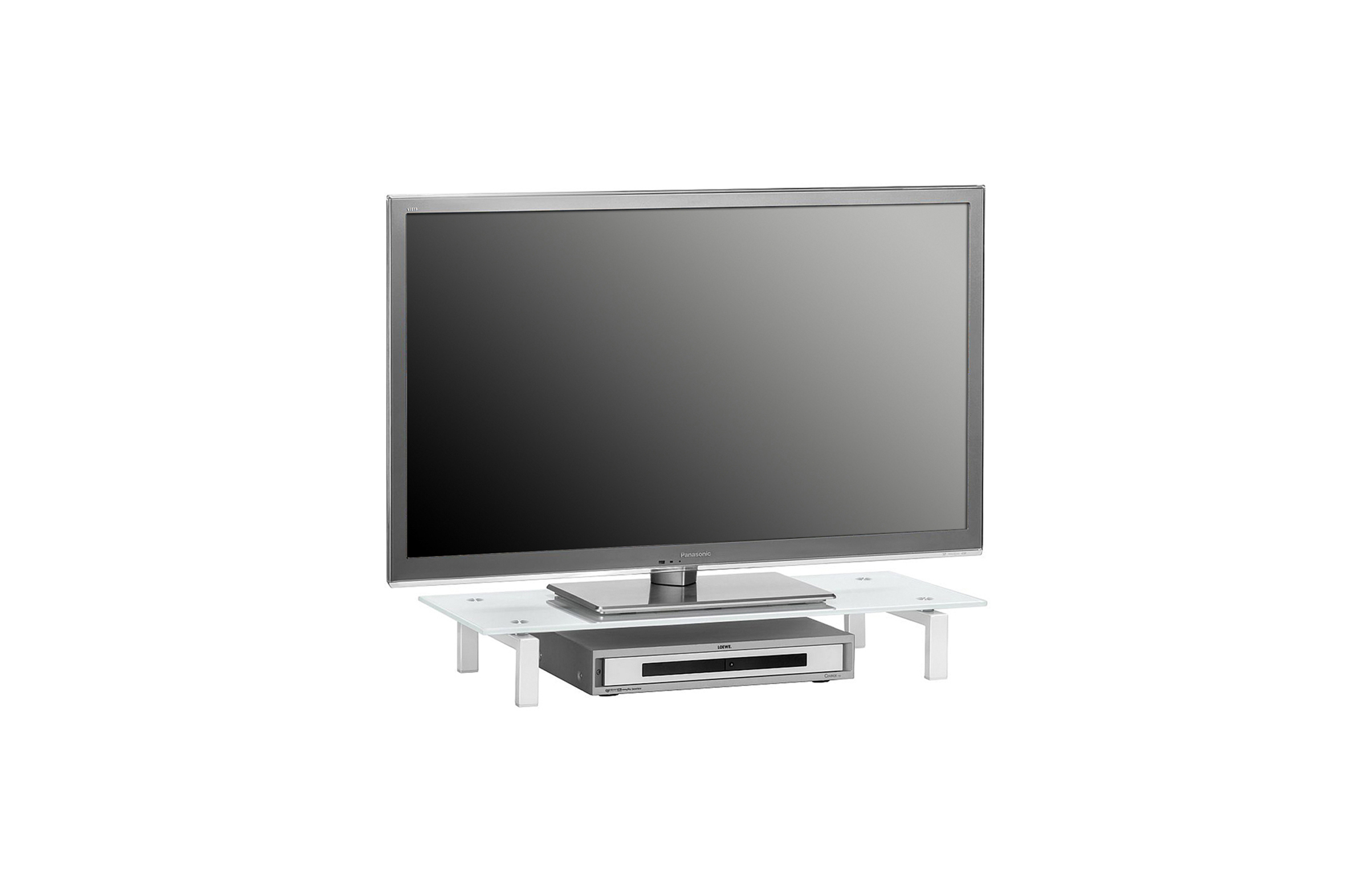 TV-Glasaufsatz Podest ca 80 cm breit Media 1603...