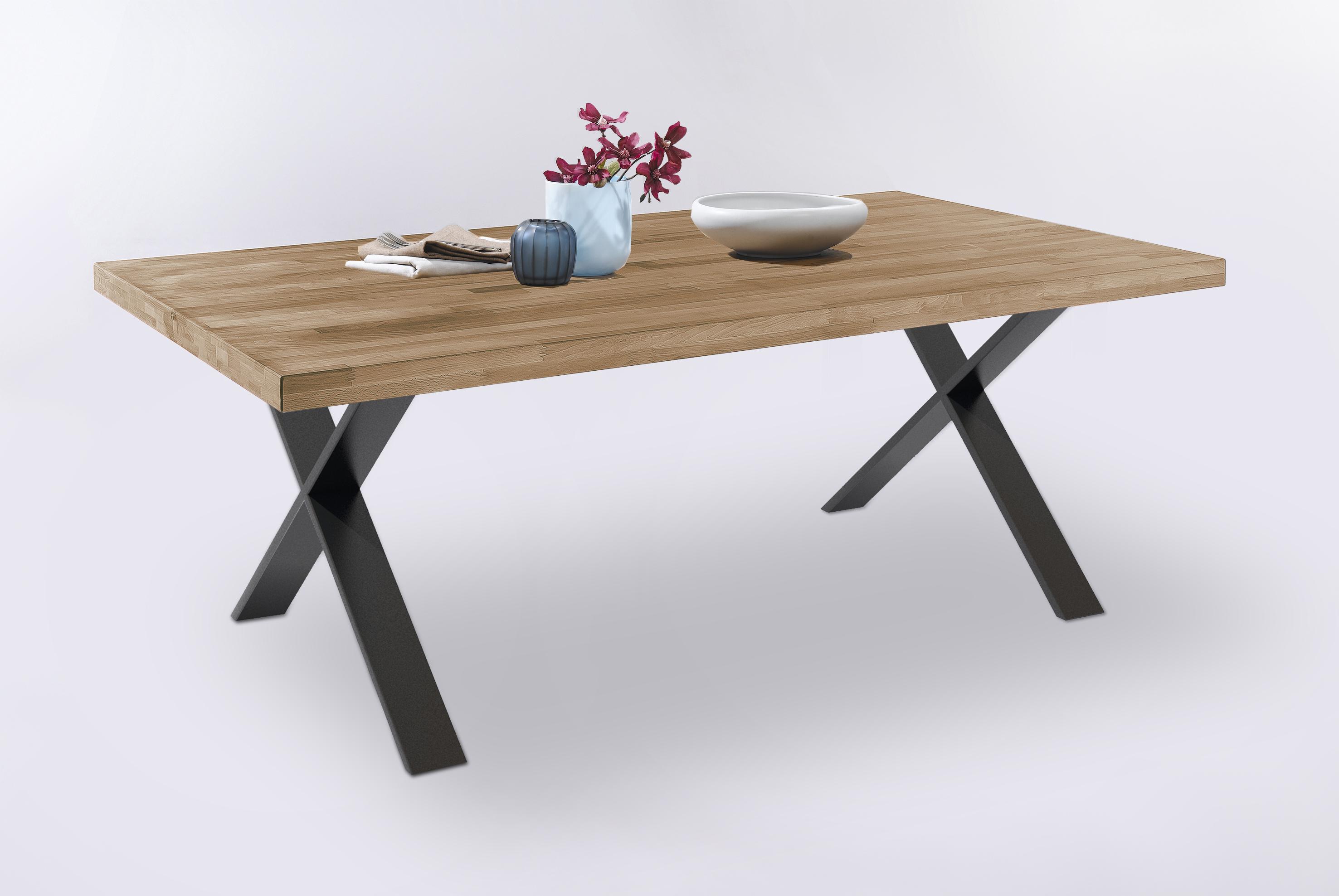 system esstisch massiv 100x160 tim von elfo m bel kernbuche ge lt. Black Bedroom Furniture Sets. Home Design Ideas