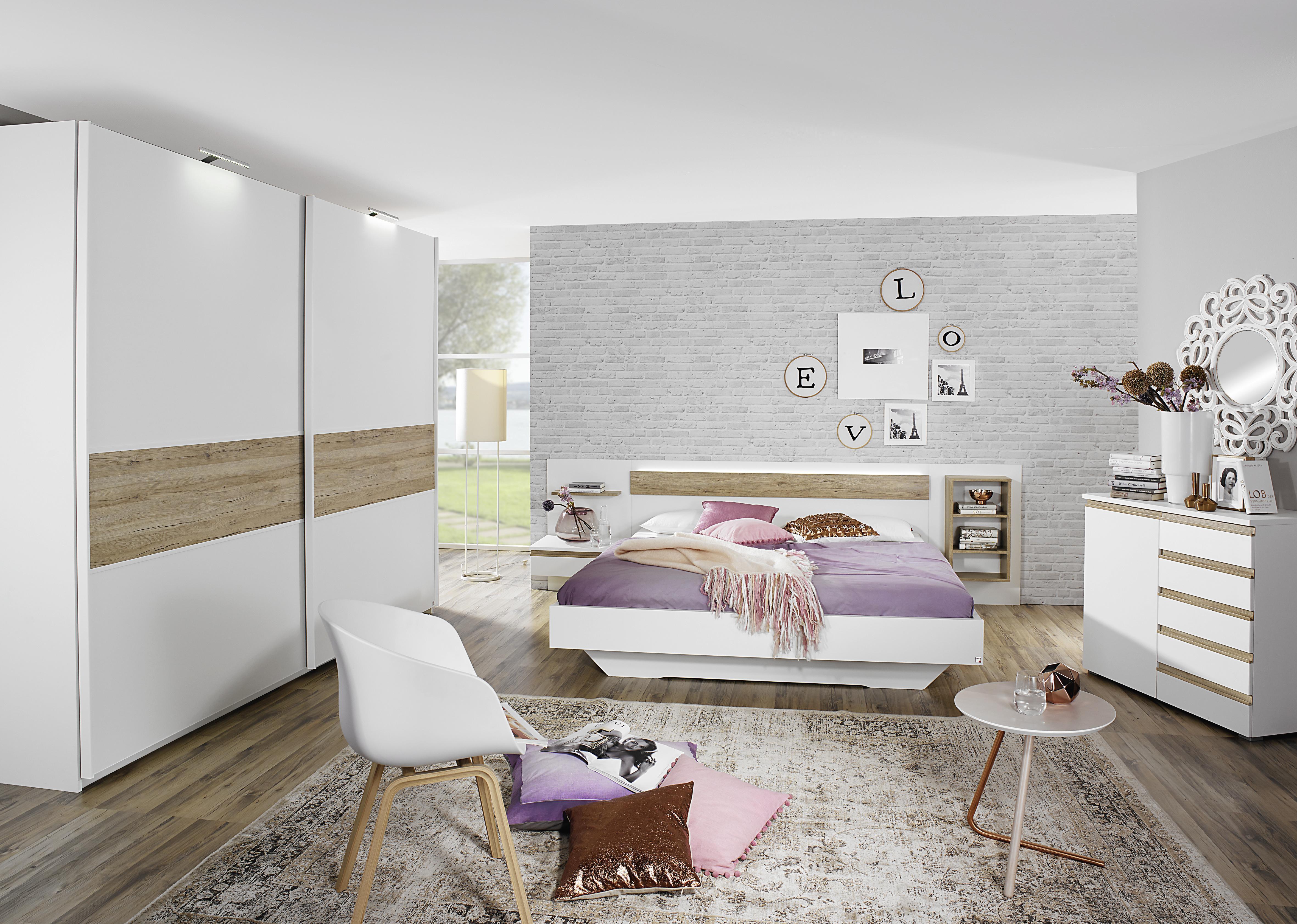 200x200 bett mara von rauch dialog alpinwei eiche sanremo hell. Black Bedroom Furniture Sets. Home Design Ideas
