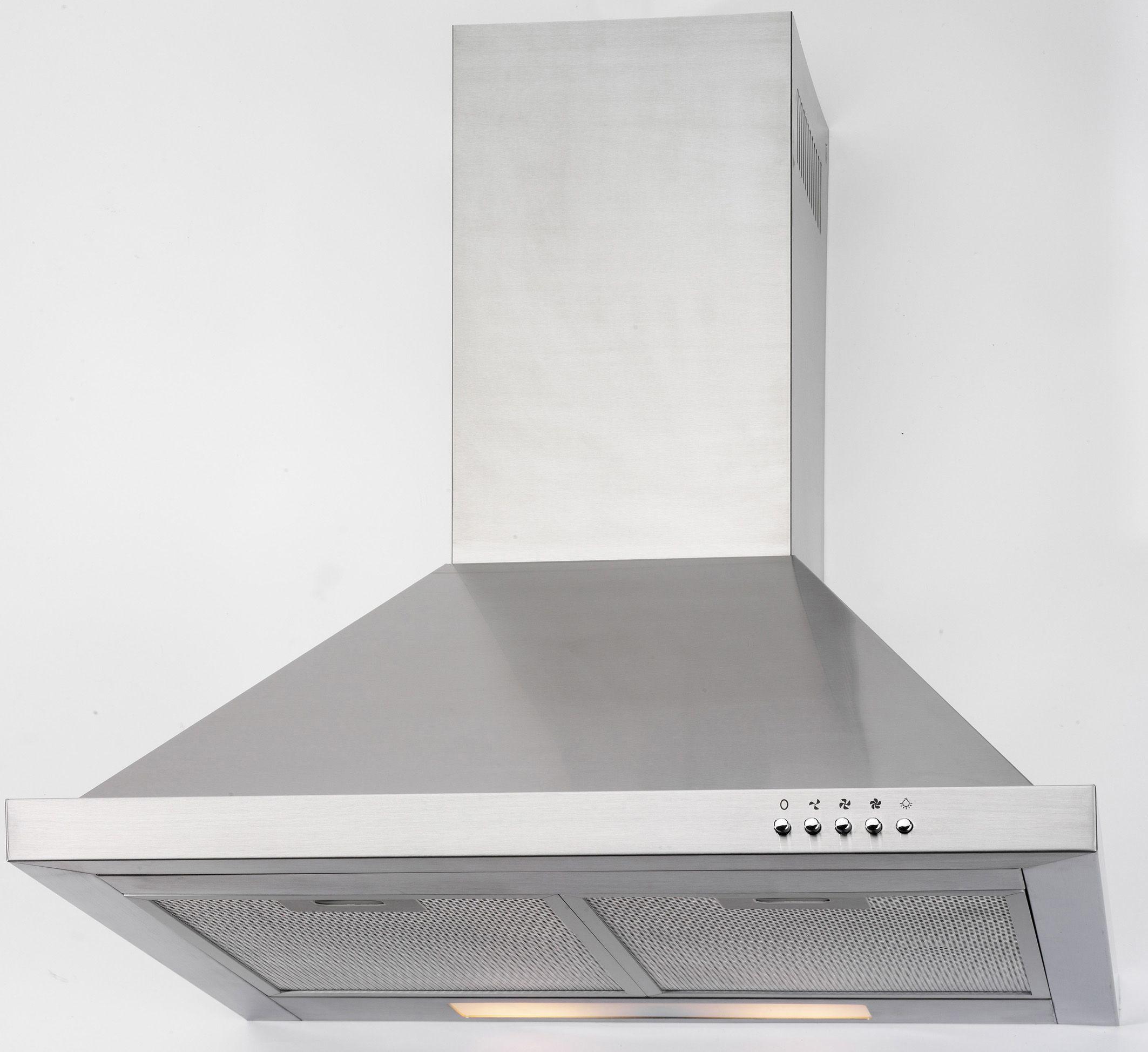 pkm 6090h wandhaube dunstabzugshaube inkl beleuchtung edelstahl 60 cm. Black Bedroom Furniture Sets. Home Design Ideas