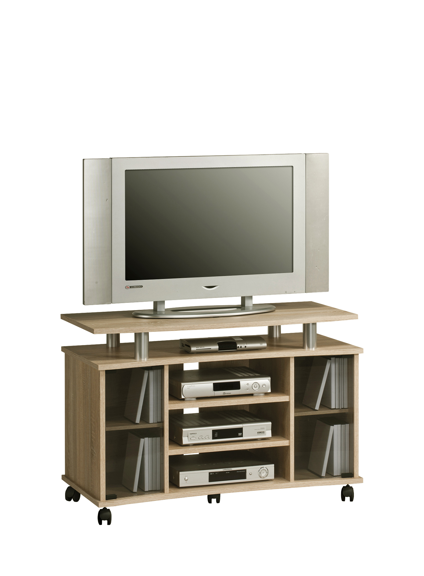 tv hifi m bel phonoregal media 7362 von maja sonoma eiche alu. Black Bedroom Furniture Sets. Home Design Ideas