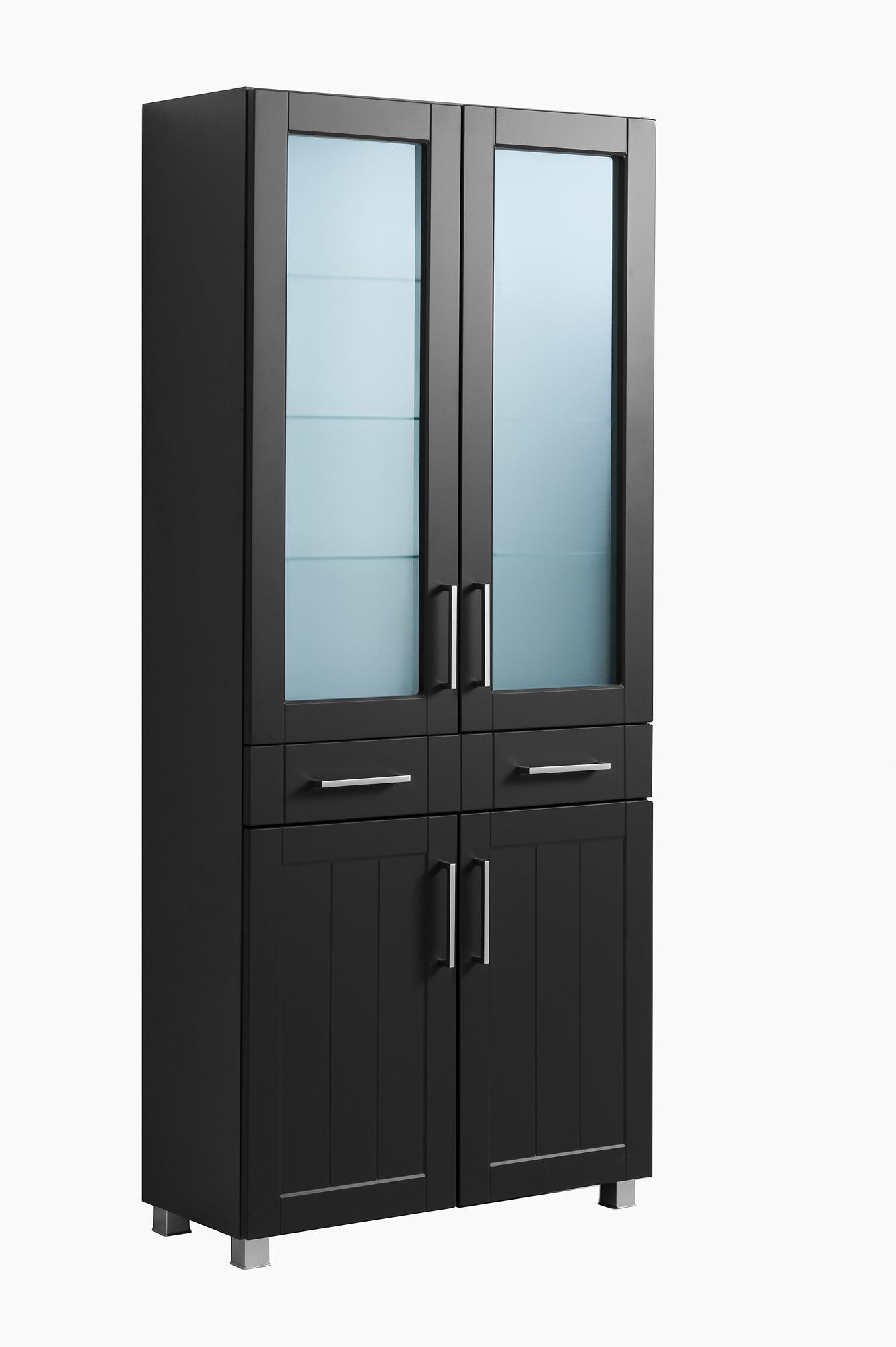 seitenschrank vitrine 80 barolo von held m bel grau. Black Bedroom Furniture Sets. Home Design Ideas