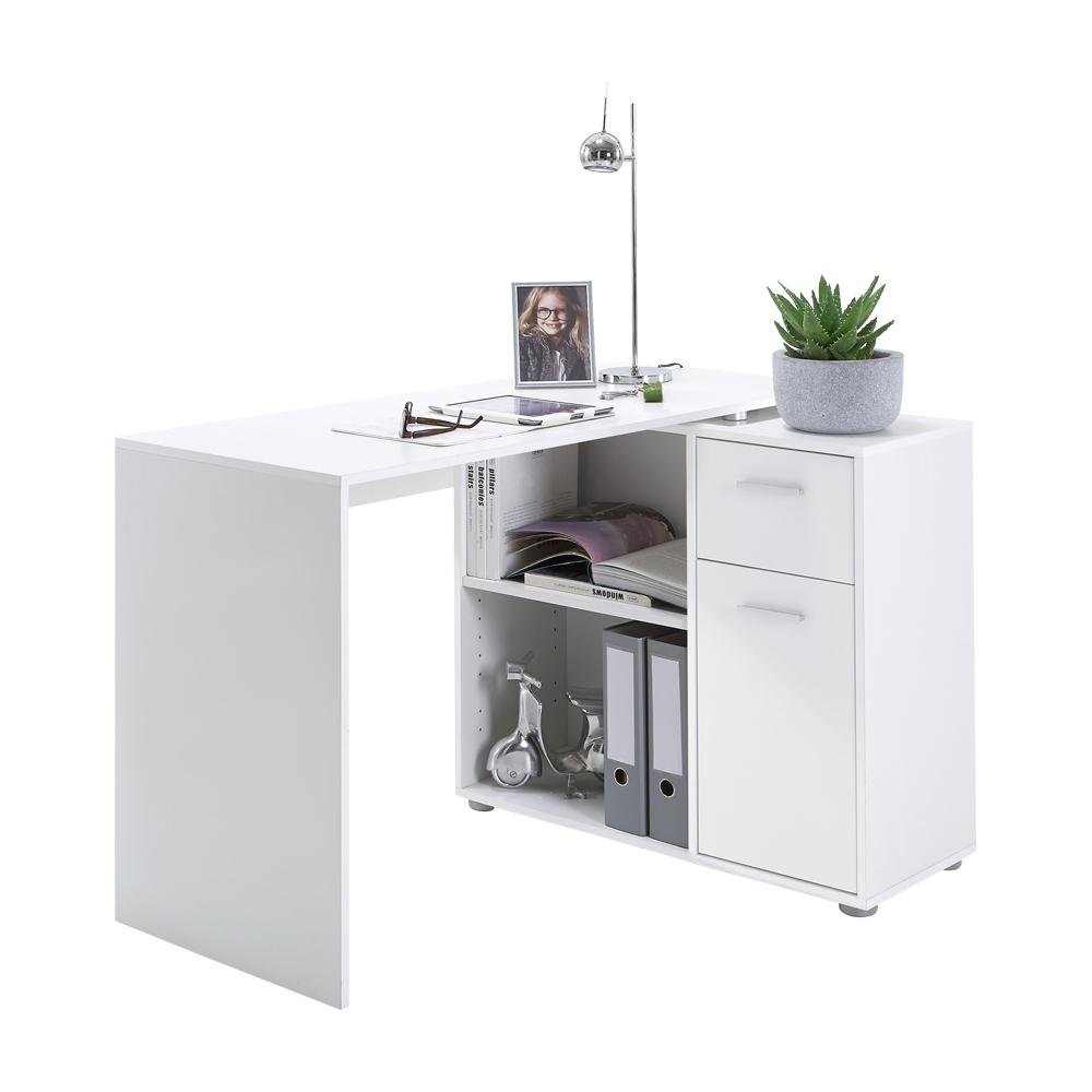 ALBRECHT 1 Schreibtisch Eckschreibtisch von FMD Weiß