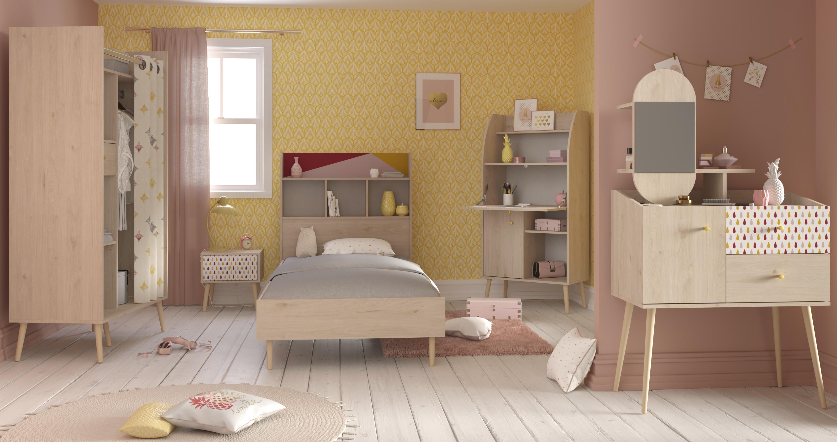 Parisot Etagenbett Team : Kinderzimmer set tlg inkl schminktisch anna von parisot eiche