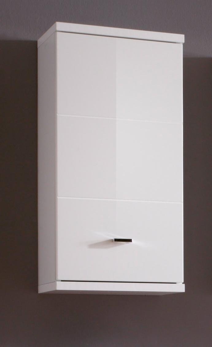 bad h ngeschrank weiss hochglanz mit 1 t r. Black Bedroom Furniture Sets. Home Design Ideas