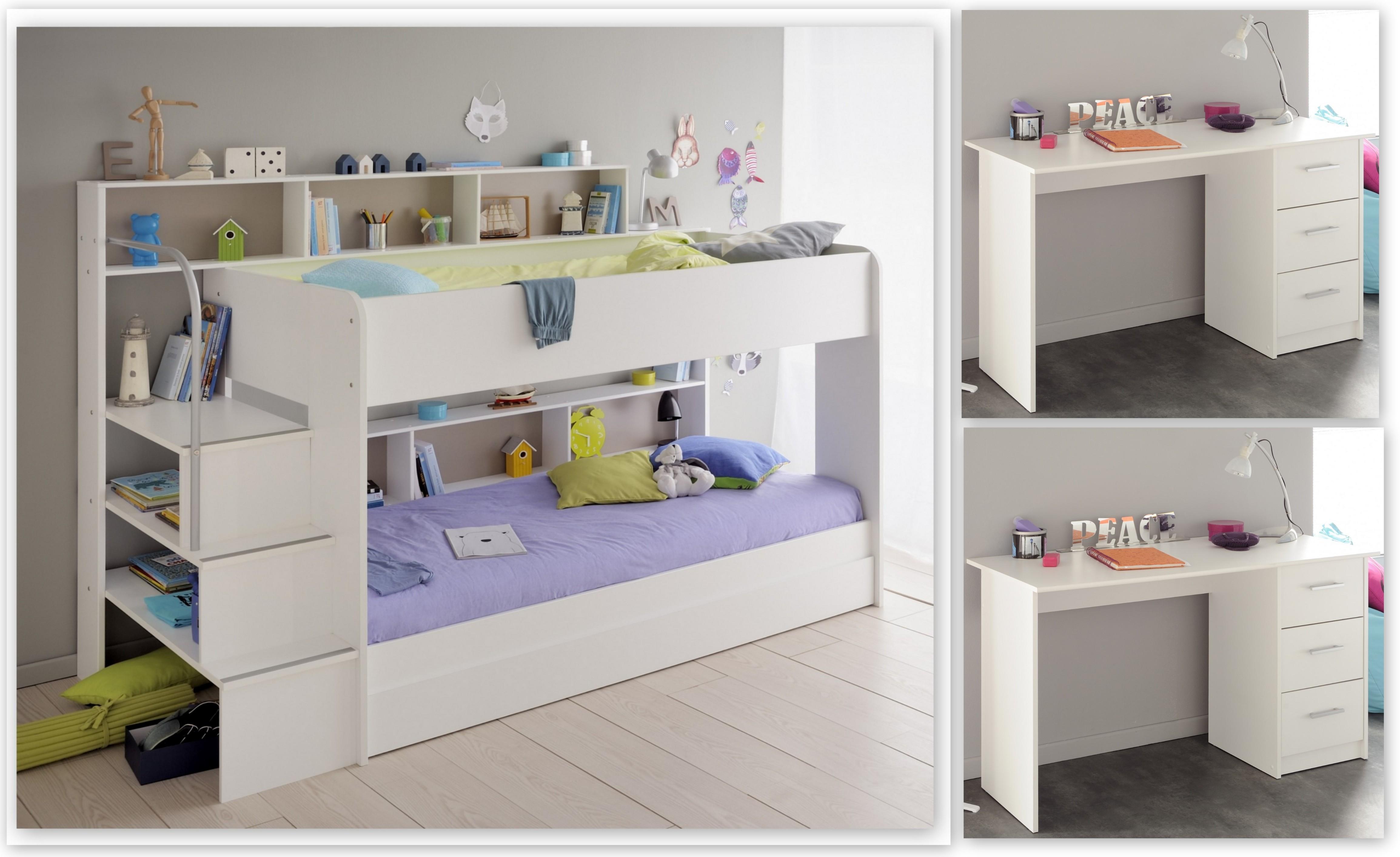 Parisot Etagenbett Team : Kinderzimmer set tlg inkl etagenbett u schreibtische er