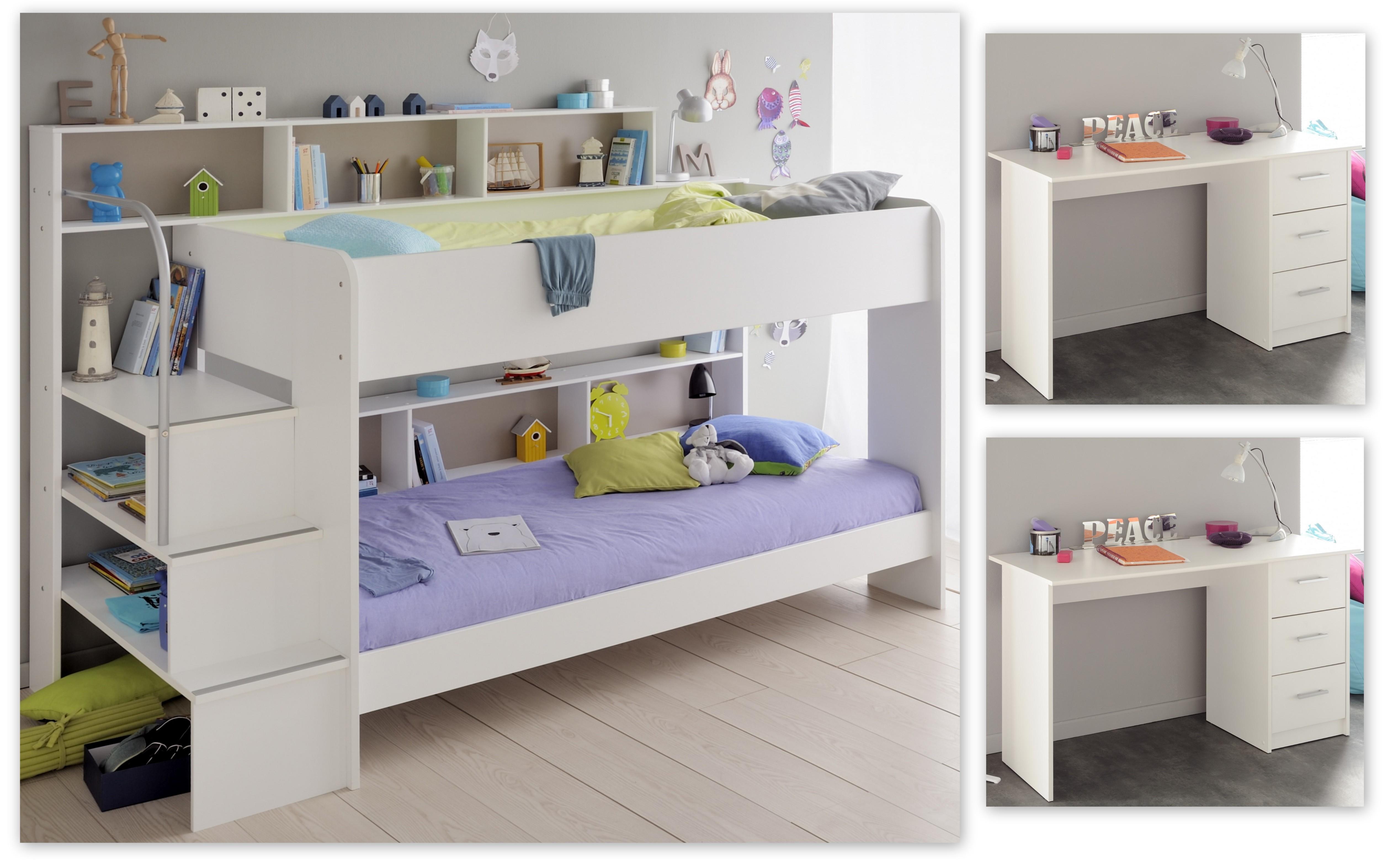 Etagenbett Bibop Gebraucht : Kinderzimmer set 3 tlg inkl 90x200 etagenbett u schreibtische 2er