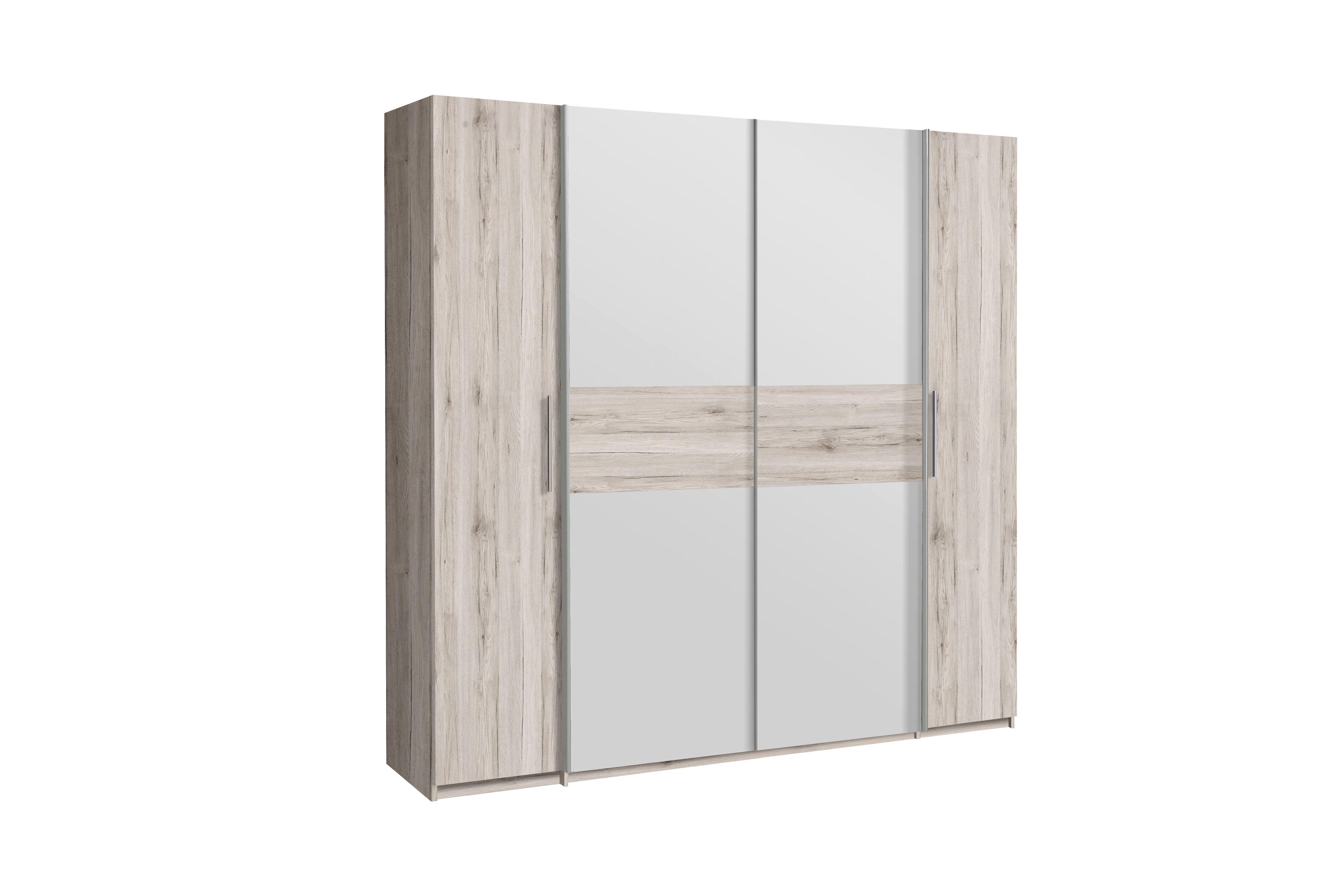 kleiderschrank 4 trg calido von forte sandeiche weiss. Black Bedroom Furniture Sets. Home Design Ideas