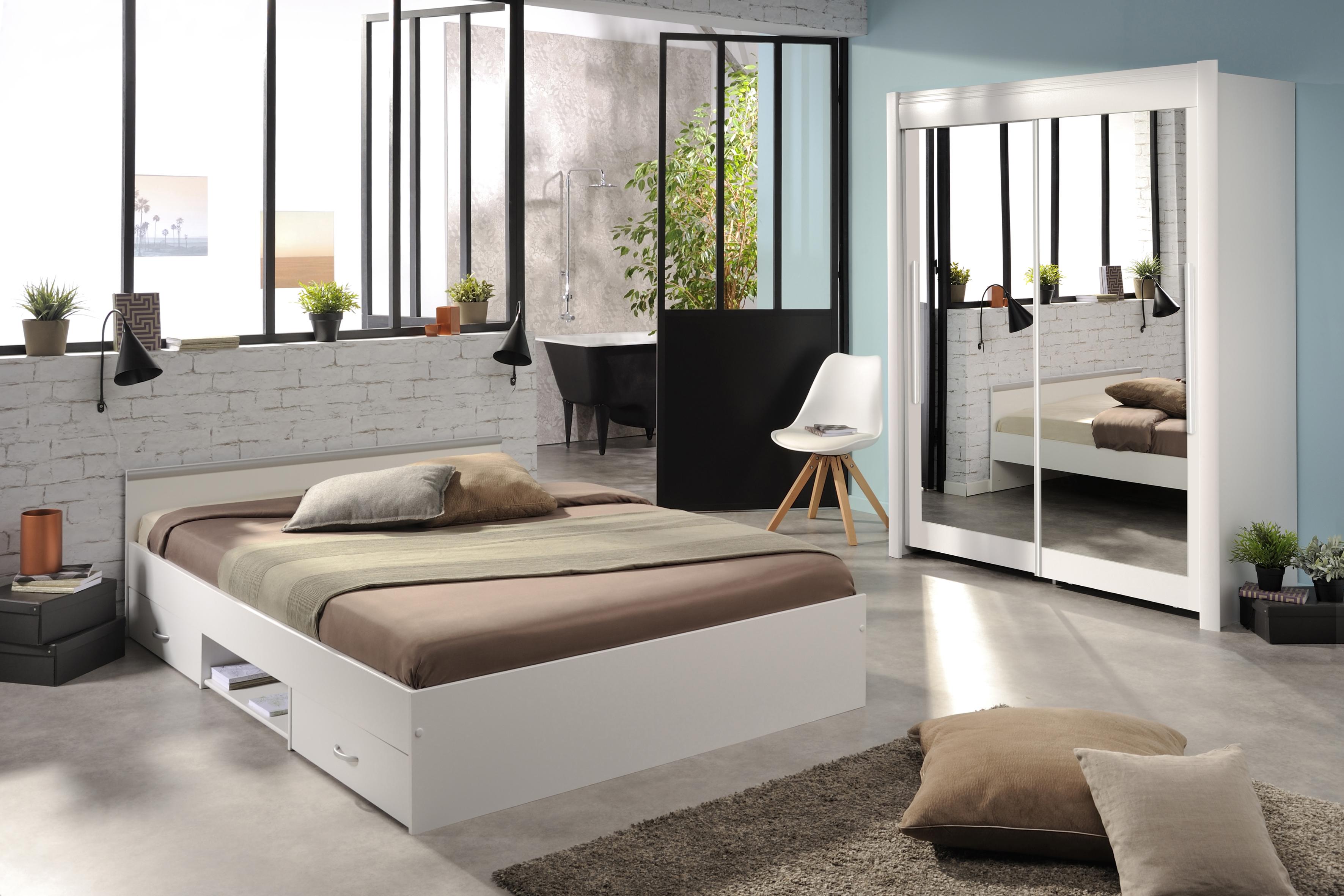 Schlafzimmer 2-tlg inkl Schweber ca. 204 breit Celebrity 53 von Parisot Weiß