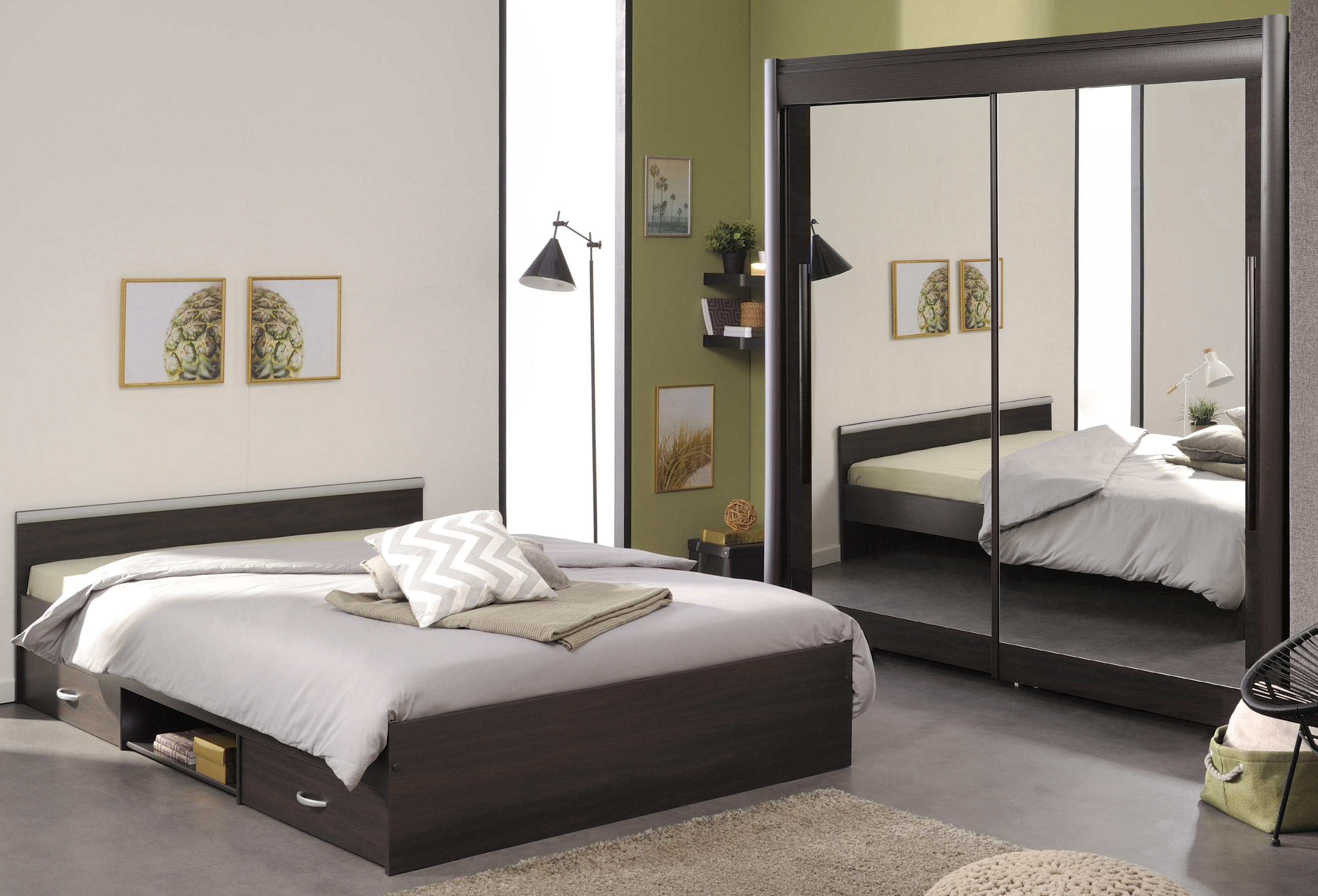 Schlafzimmer 2-tlg inkl Schweber ca. 157 breit Celebrity 61 von Parisot Kaffee