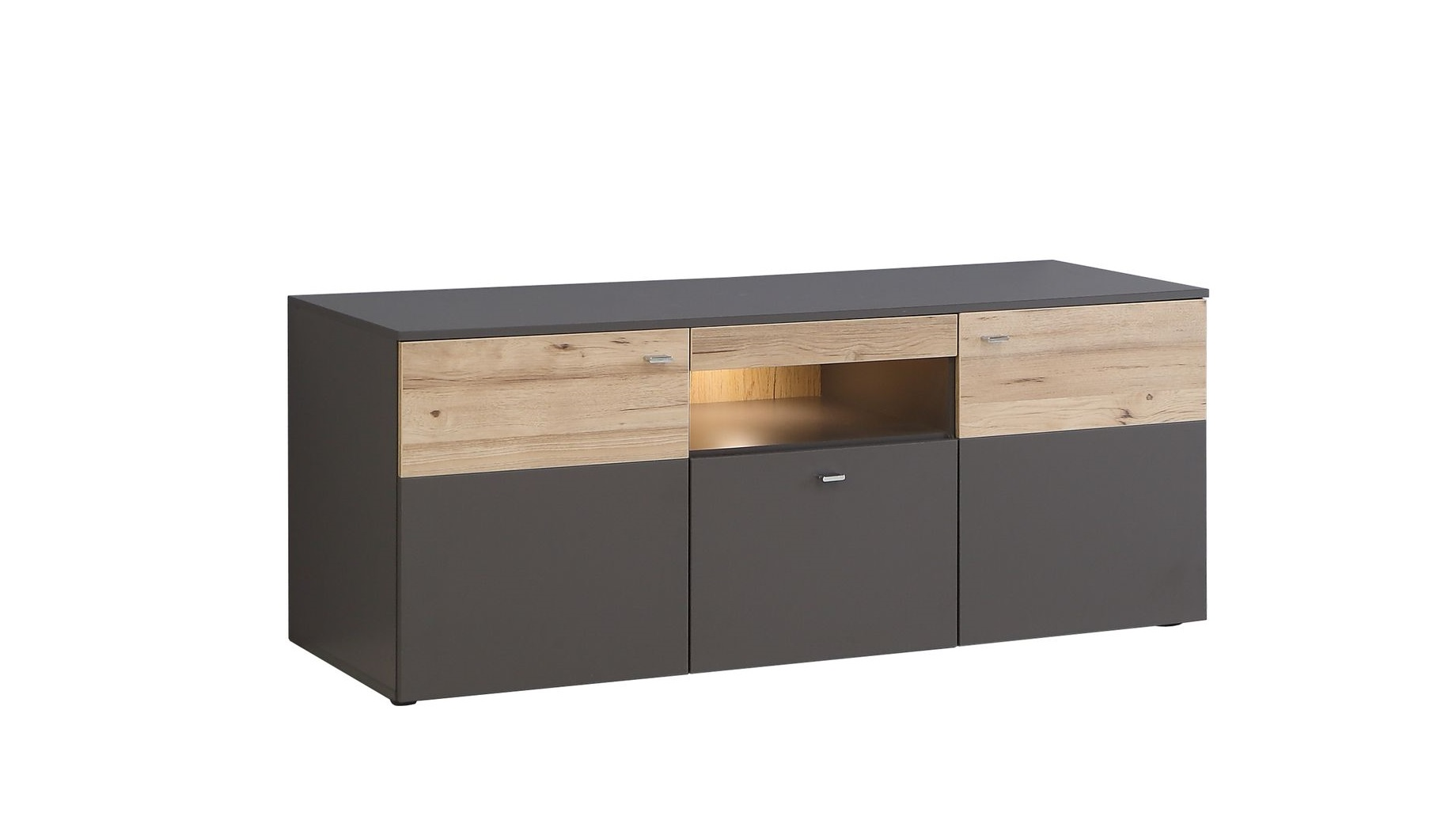 tv unterschrank inkl beleuchtung como von forte wolfram. Black Bedroom Furniture Sets. Home Design Ideas