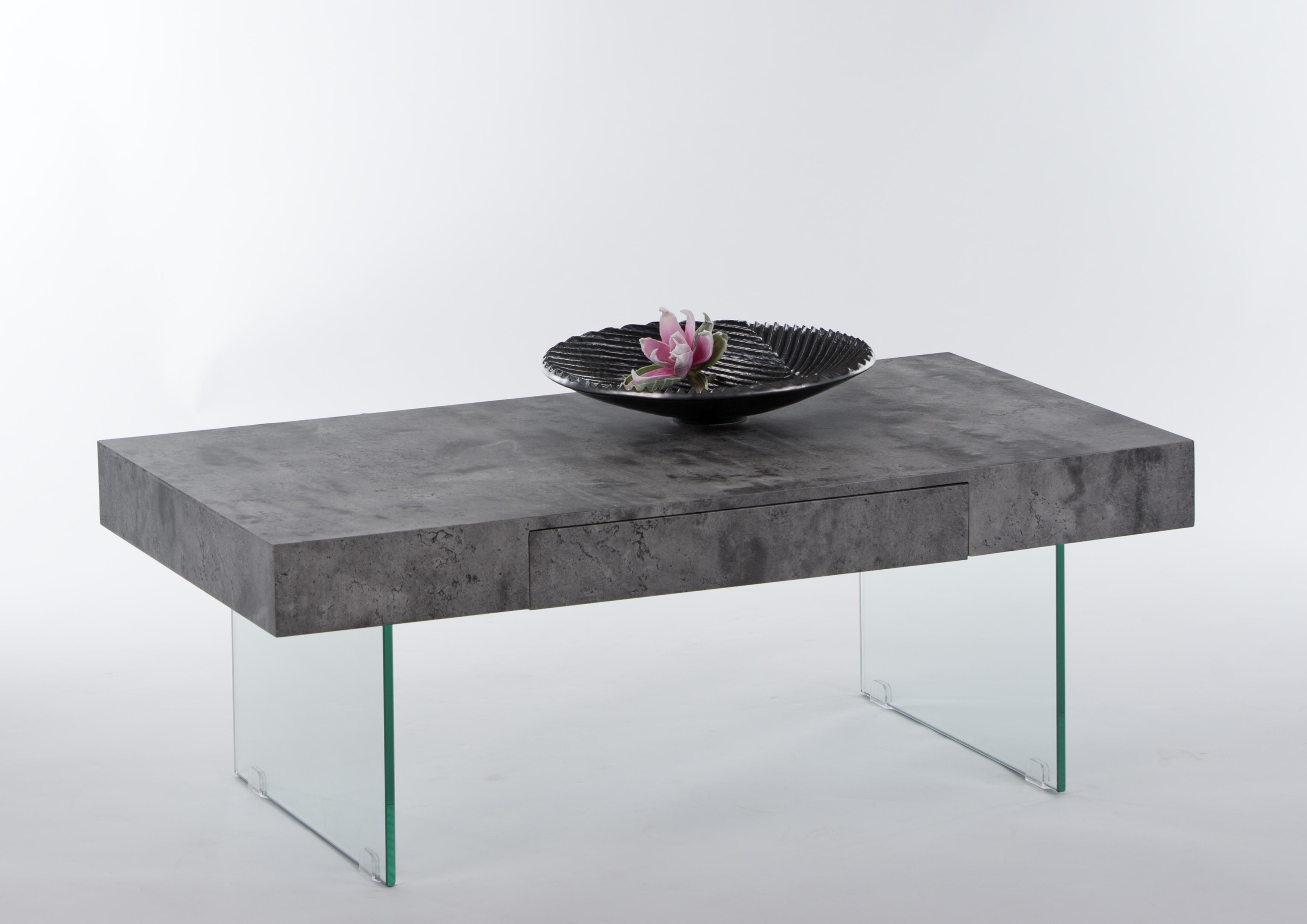 couchtisch inkl schubkasten daisy von stolkom beton. Black Bedroom Furniture Sets. Home Design Ideas