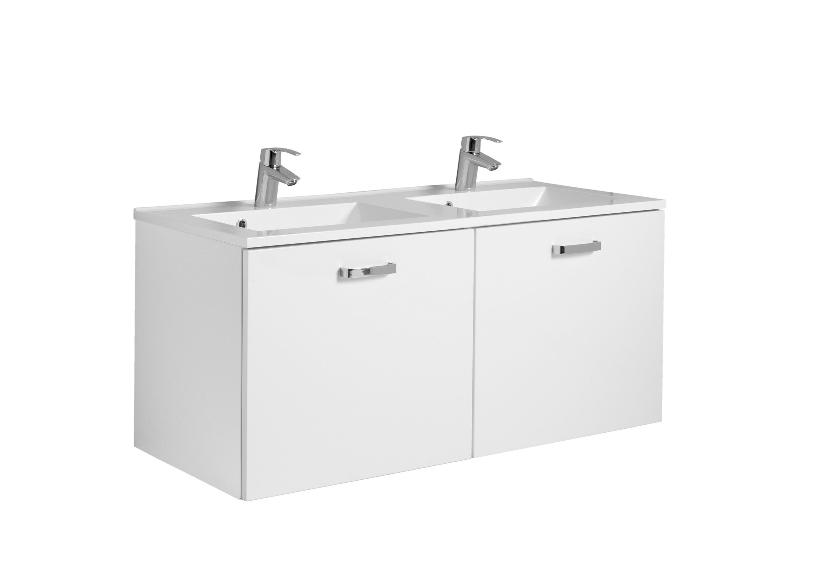 Doppelwaschtisch 120 Bologna Von Held Möbel Weiß Hochglanz