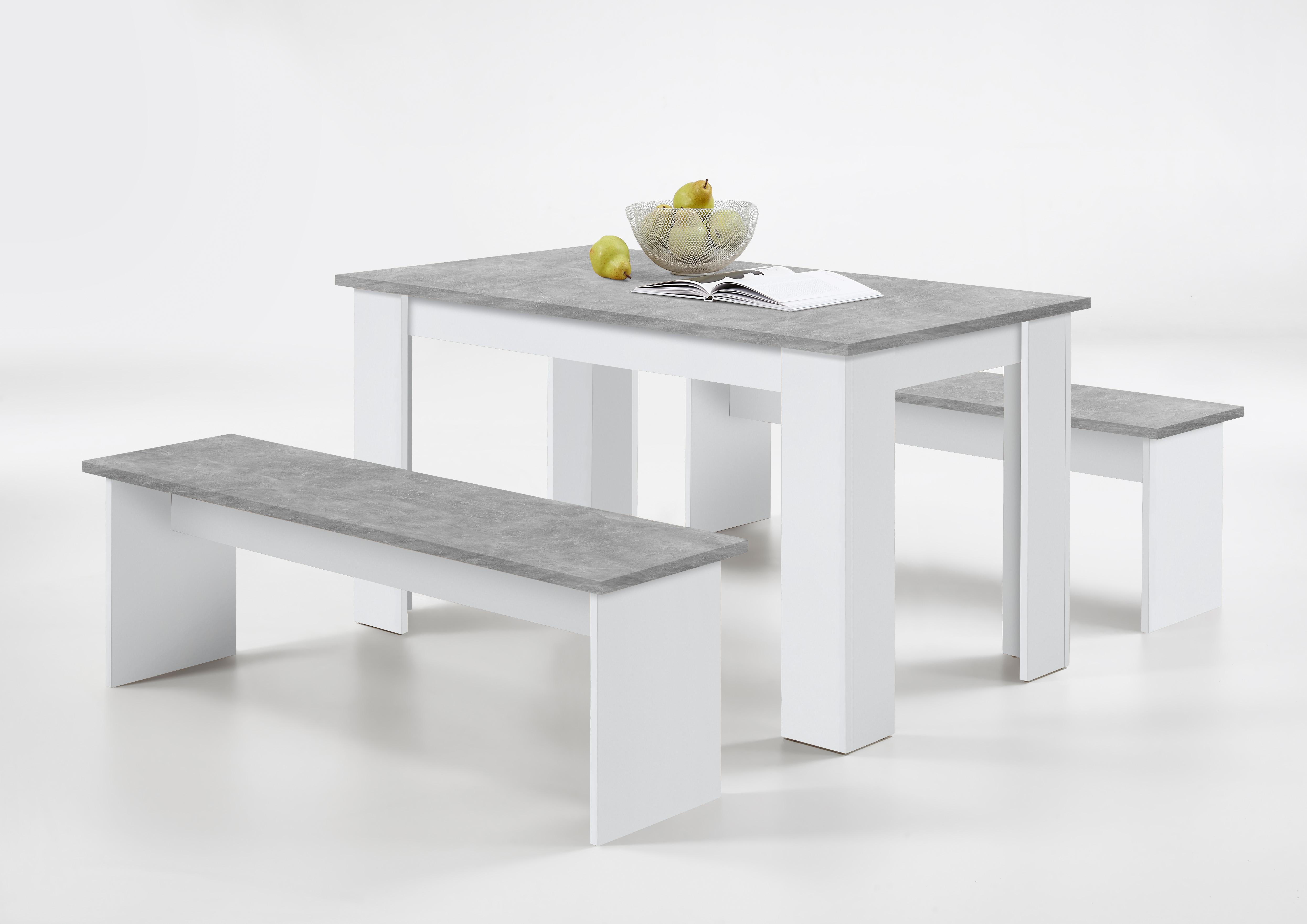 DORNUM Sitzgruppe von FMD Beton / Weiss
