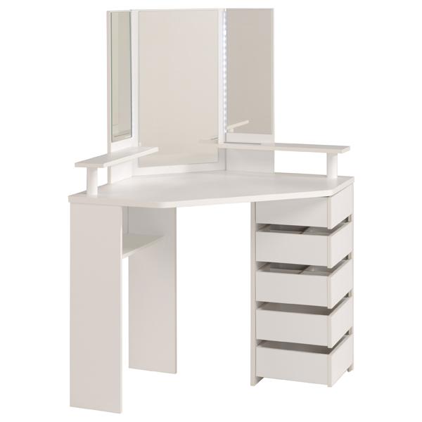 eck schminktisch inkl led beleuchtung volage 11 von. Black Bedroom Furniture Sets. Home Design Ideas