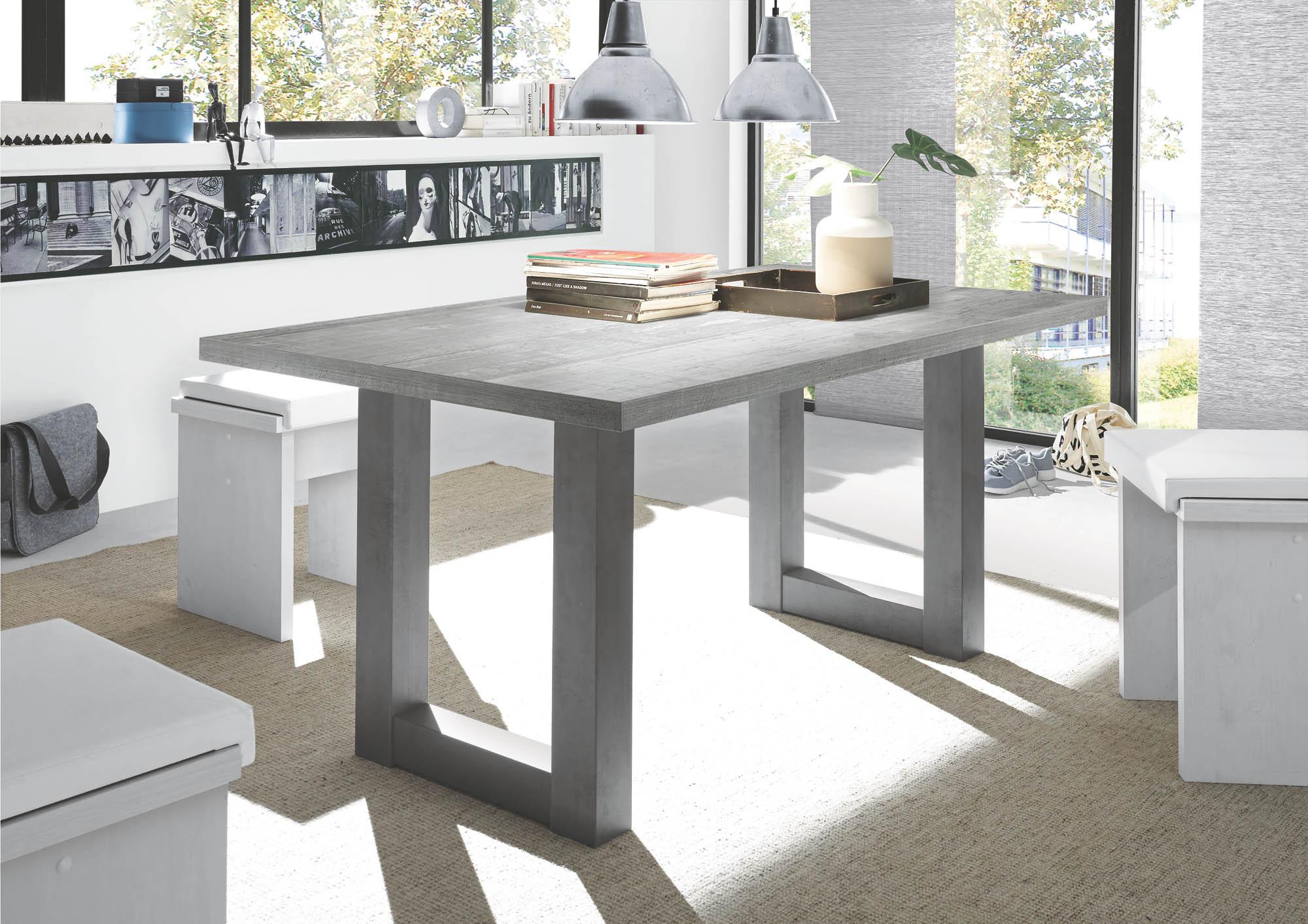 esstisch 180 cm breit mister u von m usbacher graphit beton. Black Bedroom Furniture Sets. Home Design Ideas