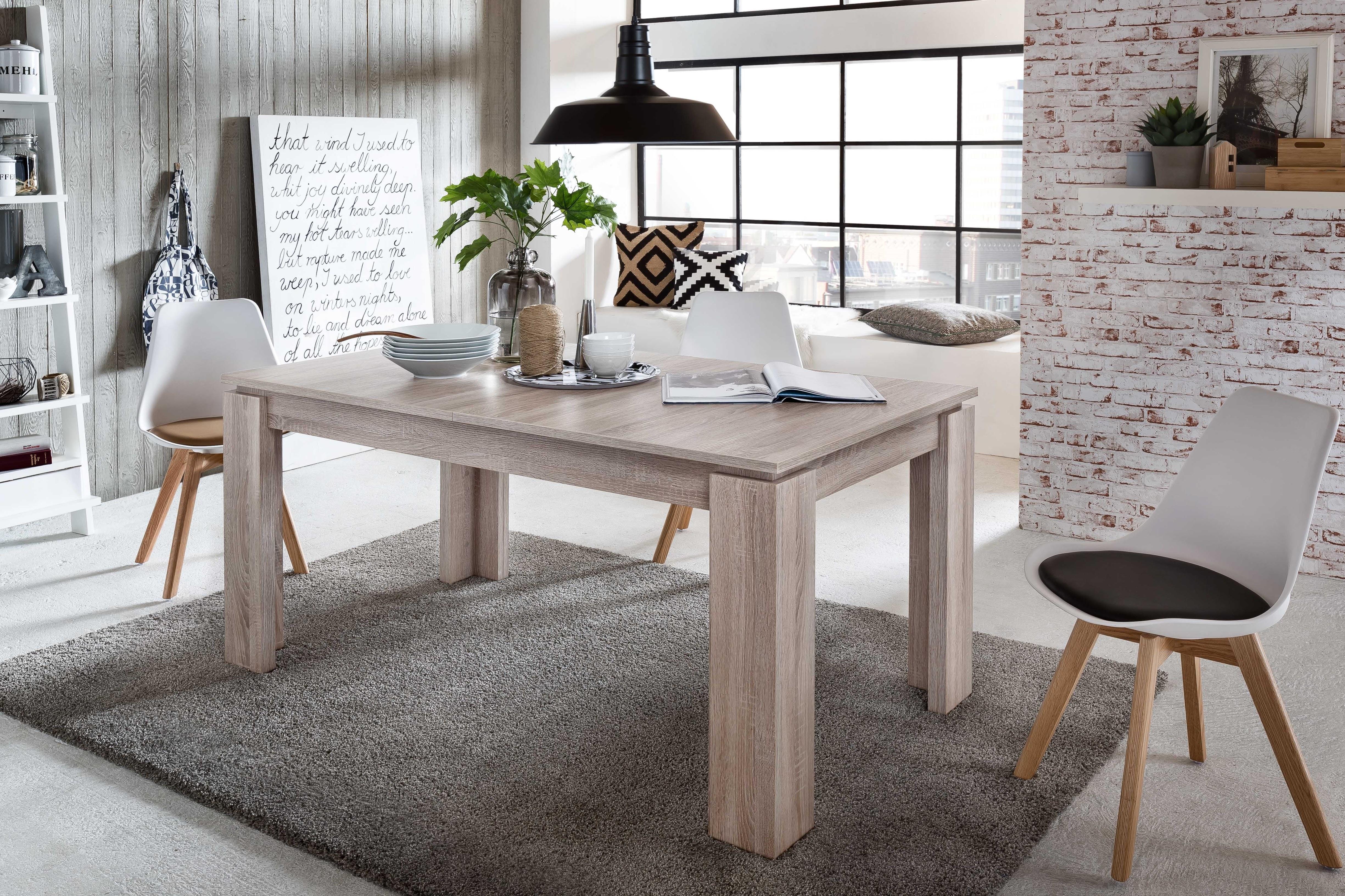 esstisch ausziehbar universal von trendteam eiche s gerau hell. Black Bedroom Furniture Sets. Home Design Ideas