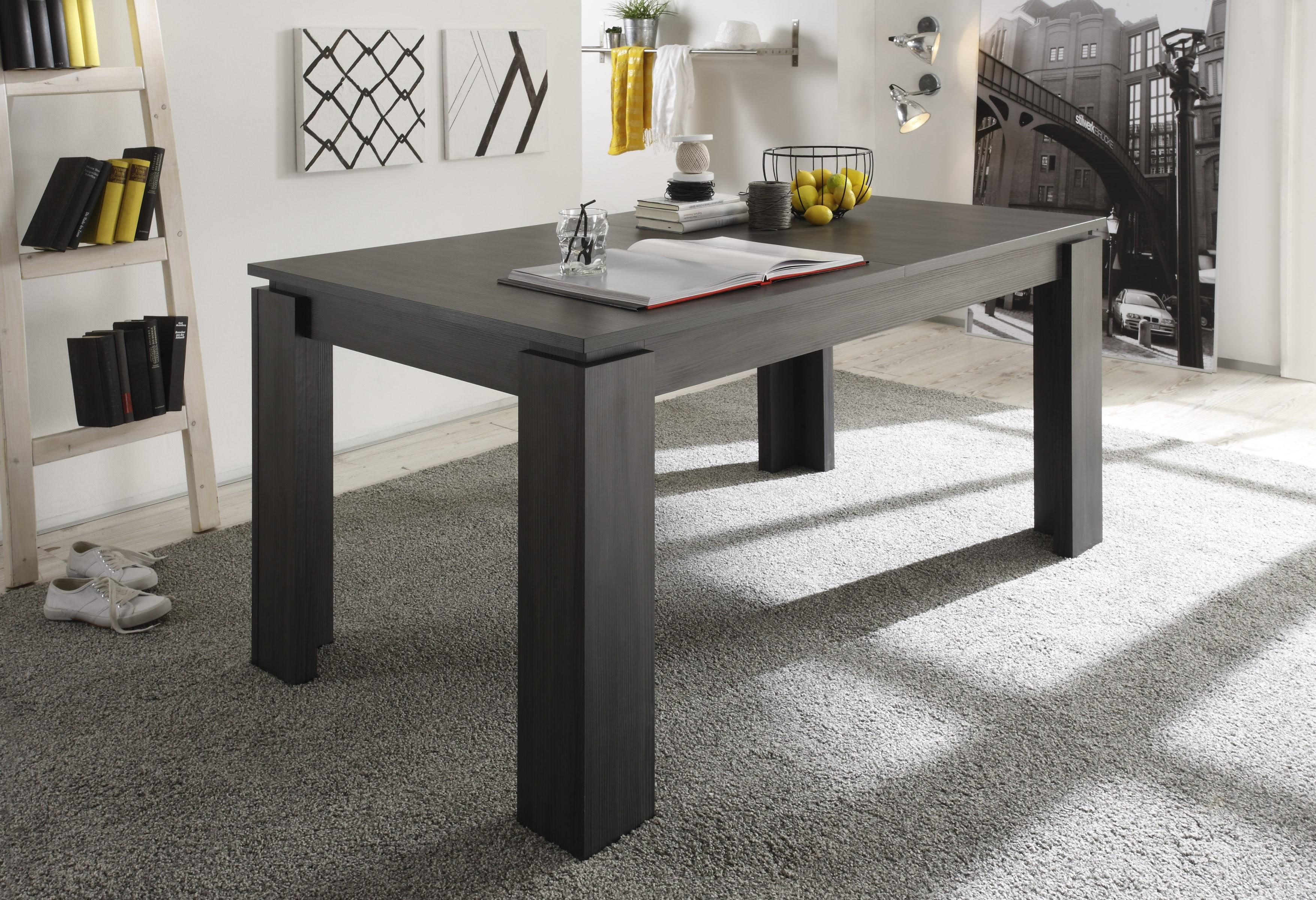 esstisch universal von trendteam esche grau. Black Bedroom Furniture Sets. Home Design Ideas