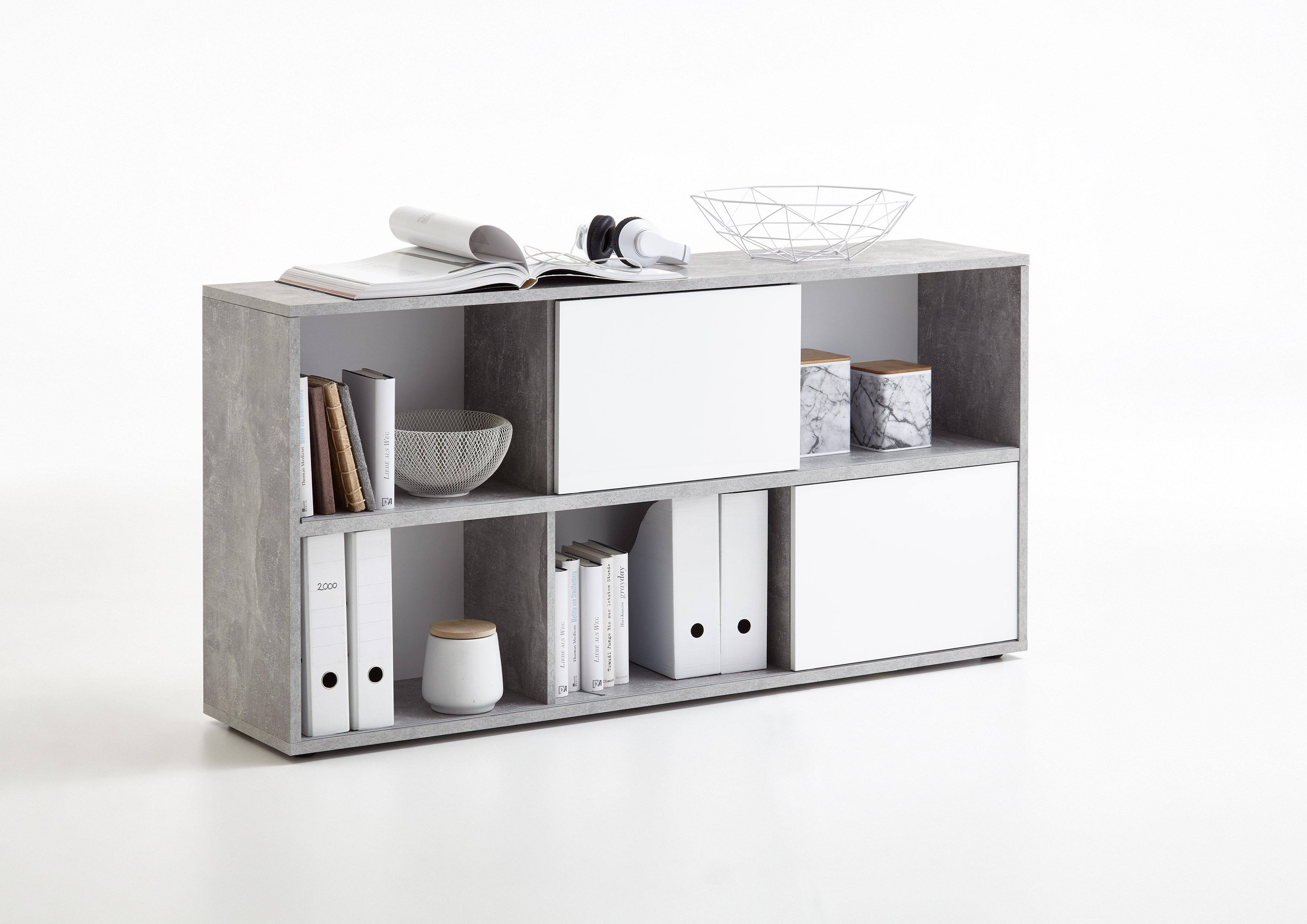 futura 4 up regal von fmd beton / weiß hgl