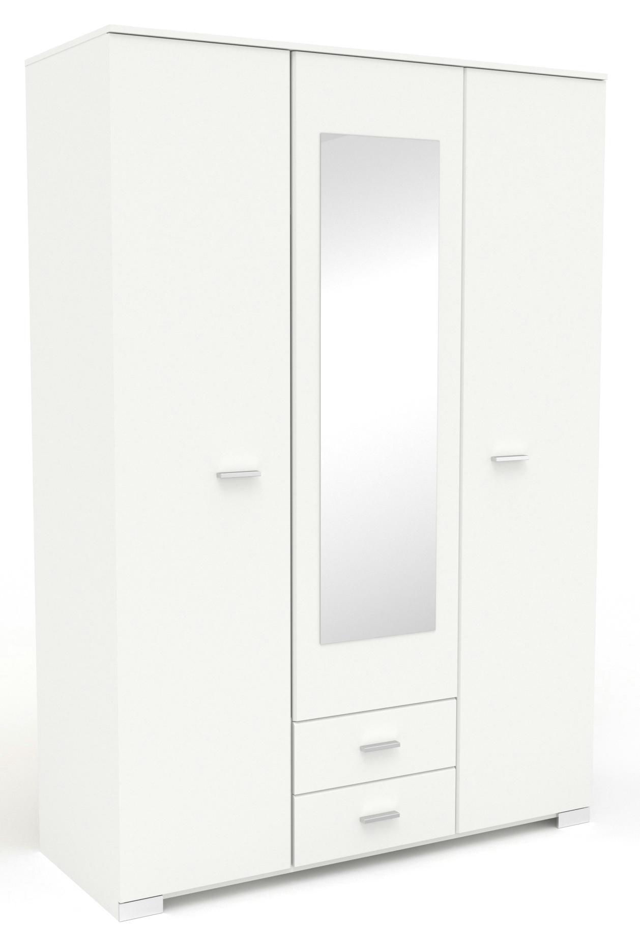 Kleiderschrank 3-trg inkl Spiegel Galaxy 1 von Parisot Weiß