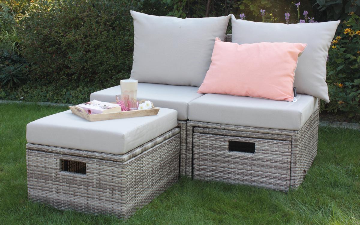 Gartenmöbel Set 4-tlg ECO BOX Trinidad´´ von CONSUL GARDEN Seehell / Natur´´