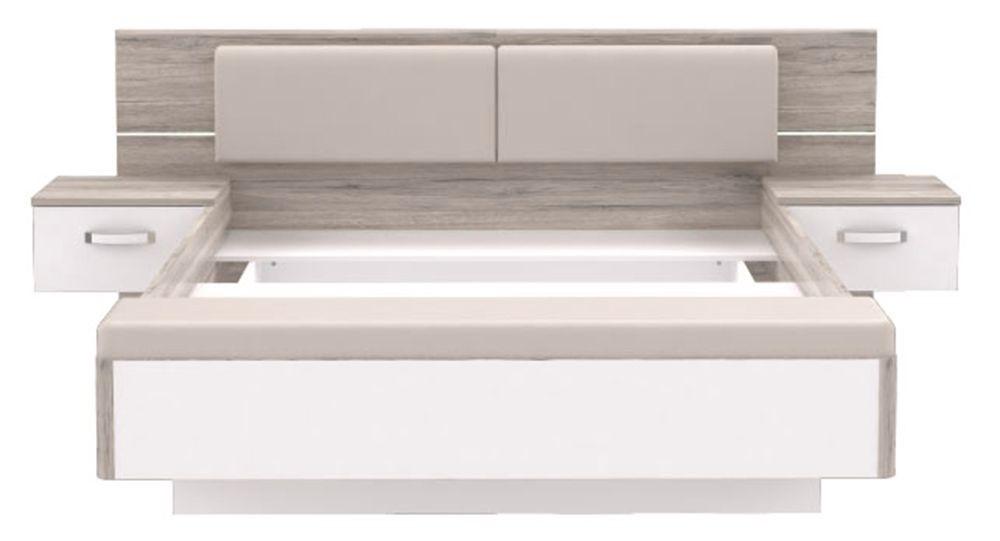 jugendzimmer 160x200 bettanlage rondino mit fu bank und beleuchtung. Black Bedroom Furniture Sets. Home Design Ideas