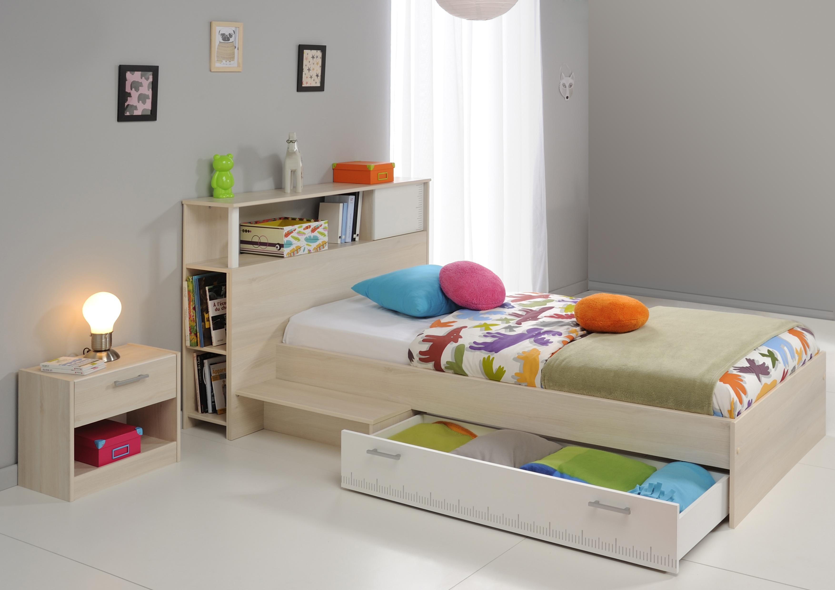Kinderzimmer Set 3-tlg Akazie/Weiß
