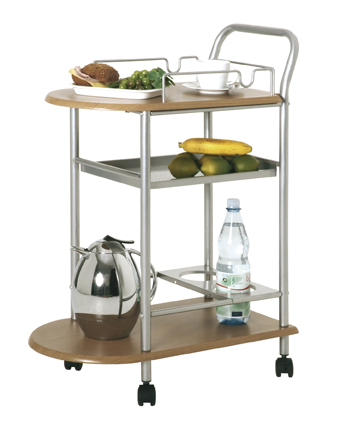Küchenwagen 40027 von HAKU Alu / Buche