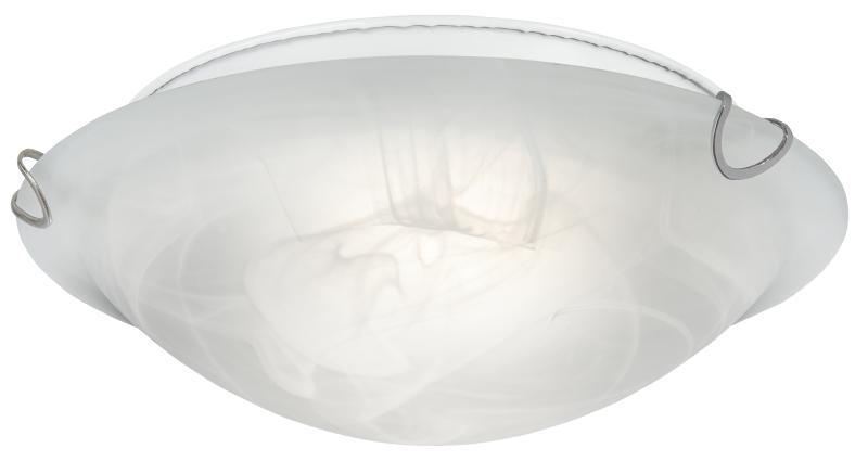 LED Deckenleuchte Derlin von Nino Alabaster Weiss