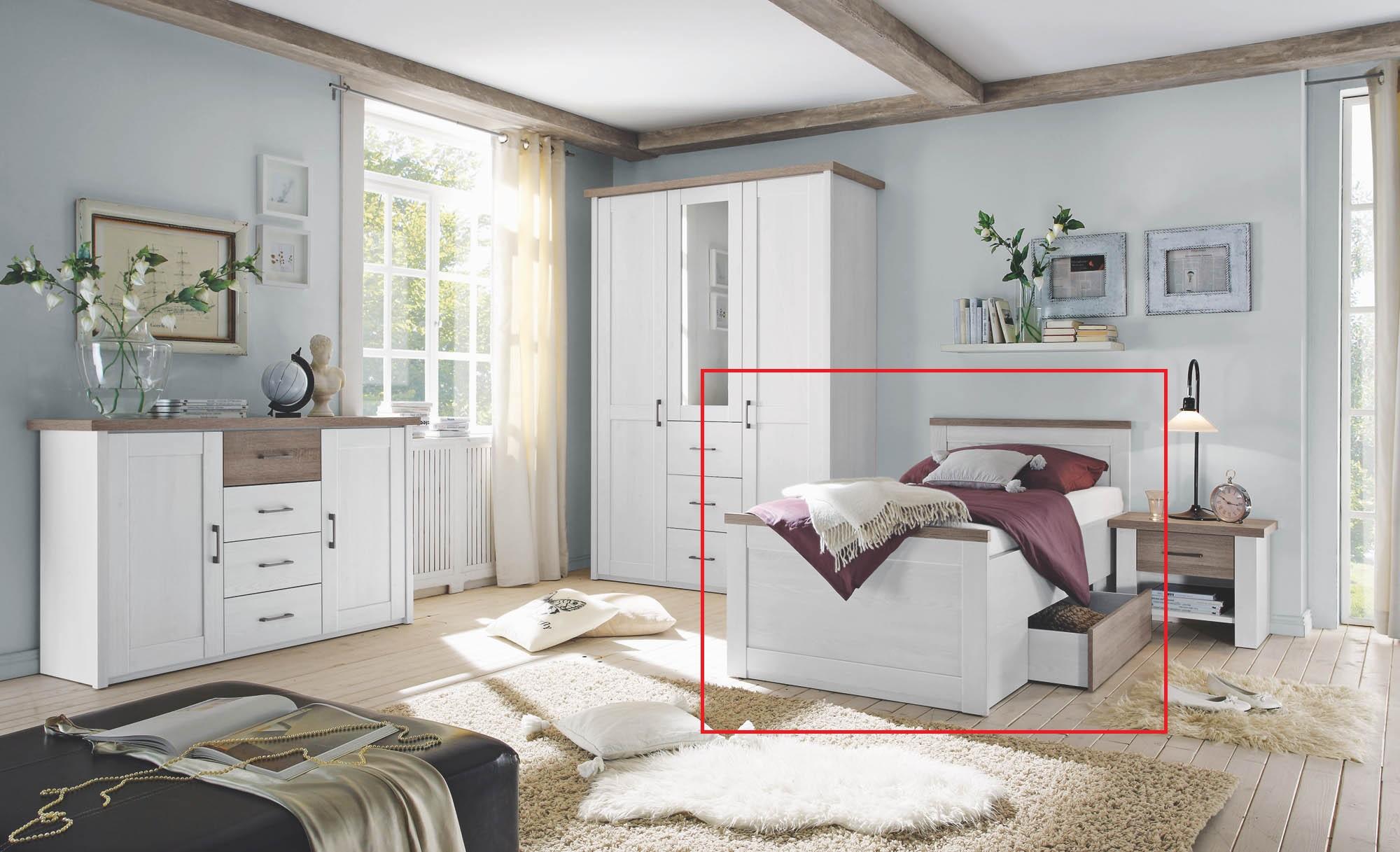 100x200 komfortbett inkl bettschubkasten luca von pol for Komfortbett 100x200