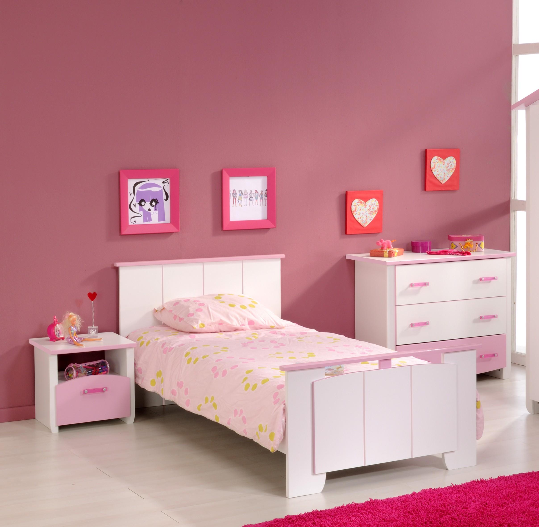 Mädchenzimmer 3-tlg Weiss / Rosa