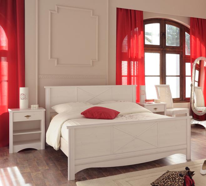 schlafzimmer set 3 tlg inkl 160x200 bett marion 8 von parisot kiefer weiss. Black Bedroom Furniture Sets. Home Design Ideas