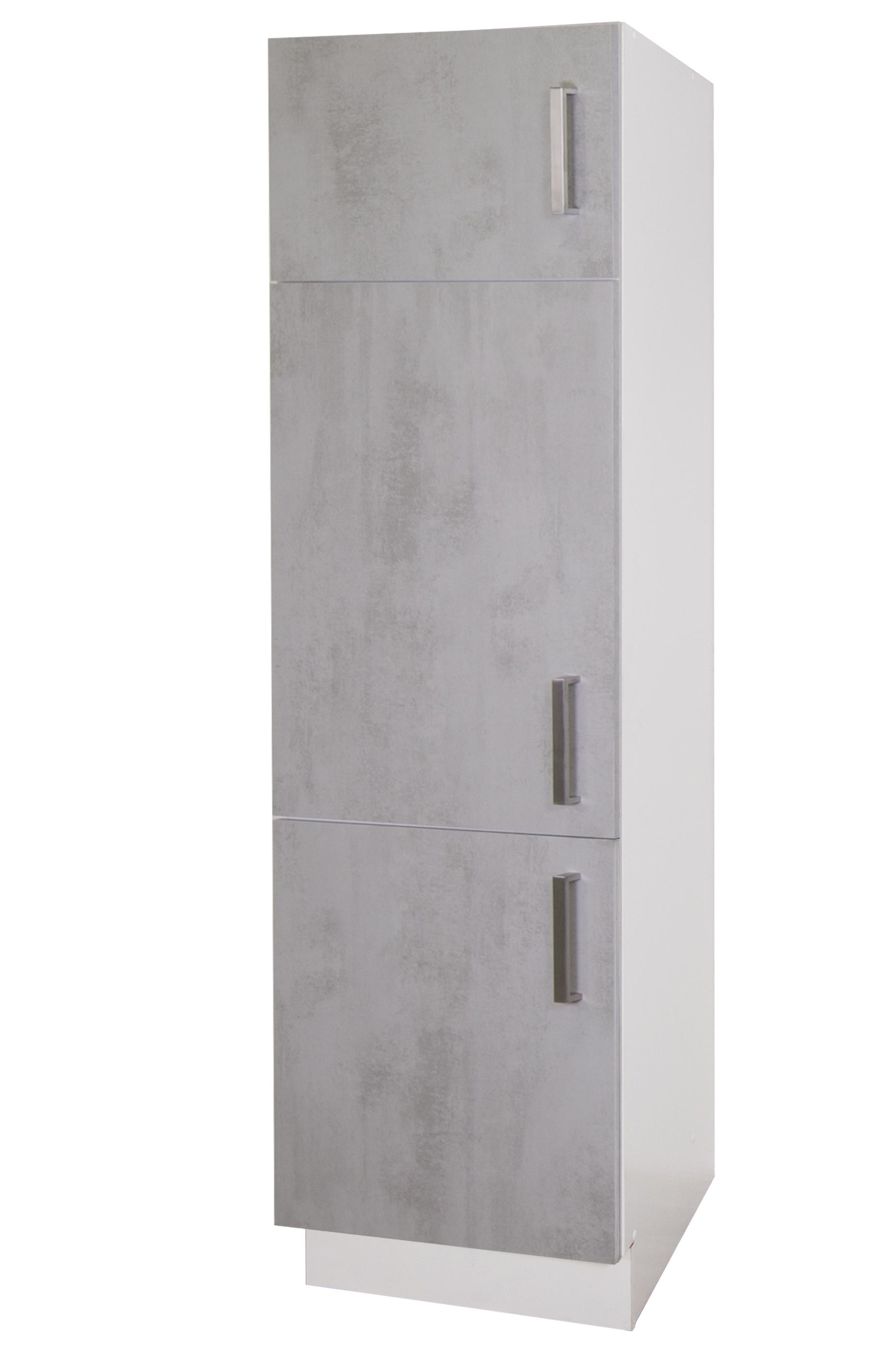 kühlschrankumbau mara 60 hoch von menke möbel weiss/betonoptik