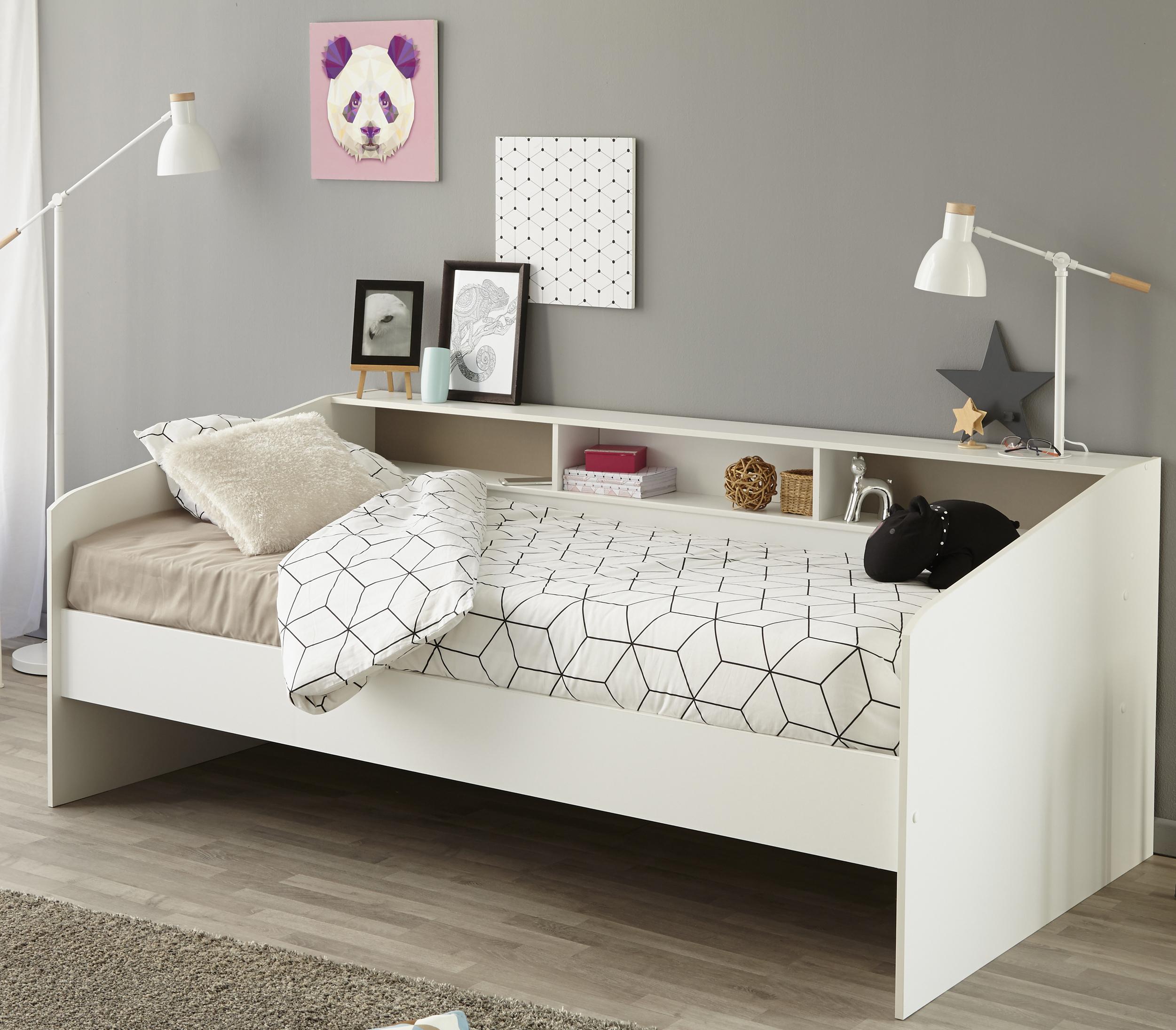 90x200 Stauraumbett Sleep 2 von Parisot Weiß