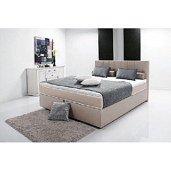 breckle boxspringbett peach ii 160x200 inkl topper schlamm hellbraun. Black Bedroom Furniture Sets. Home Design Ideas