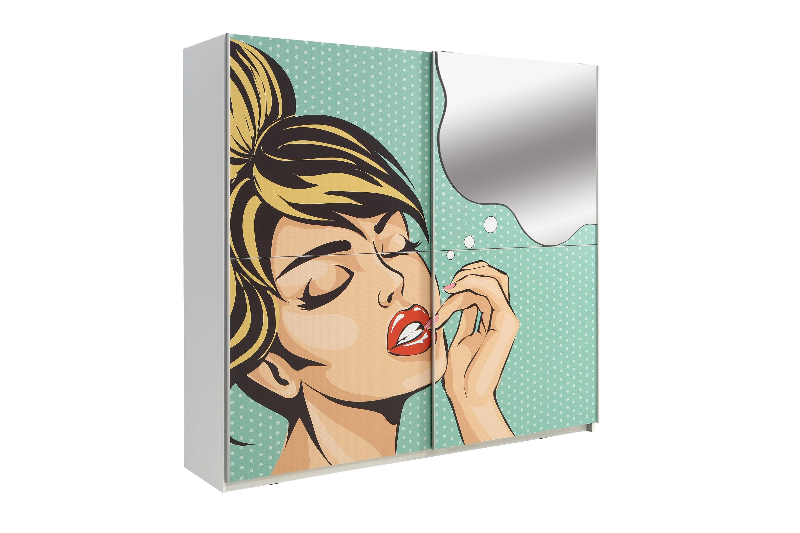 Schweber 220 cm breit Plakato von Forte Motiv Pop 07 / Weiss
