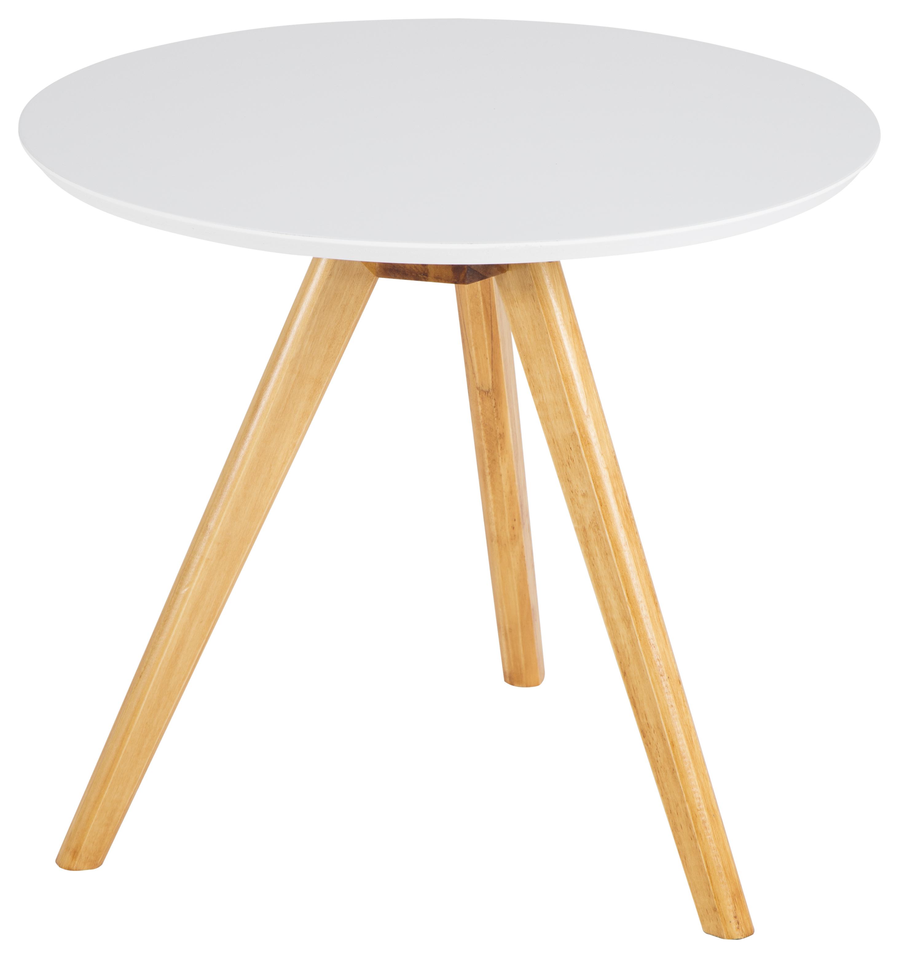 Geräumig Beistelltisch Holz Weiß Foto Von