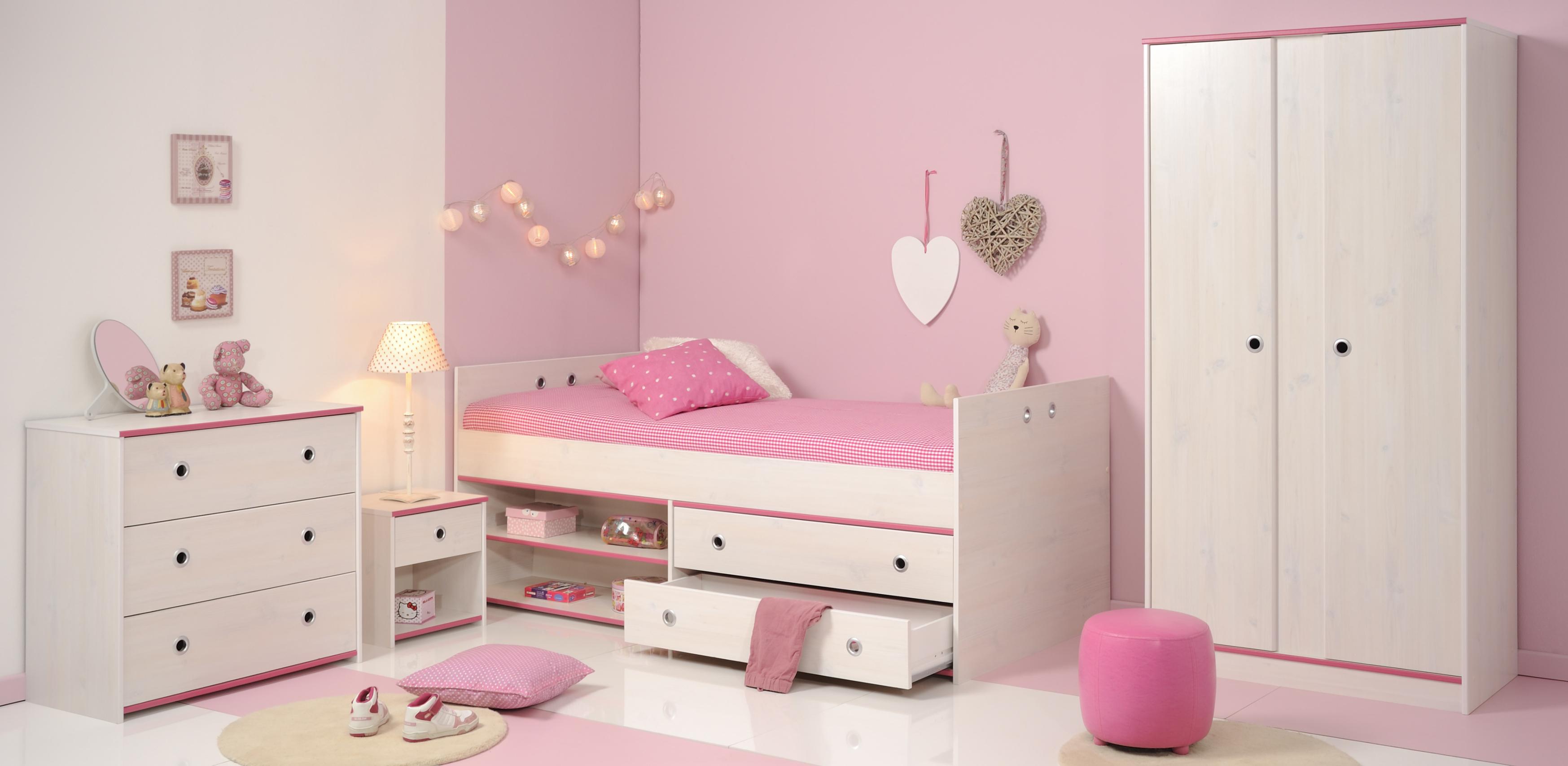 Schlafzimmer 4-tlg. inkl 90x200 Stauraumbett u 2-trg Kleiderschrank ...